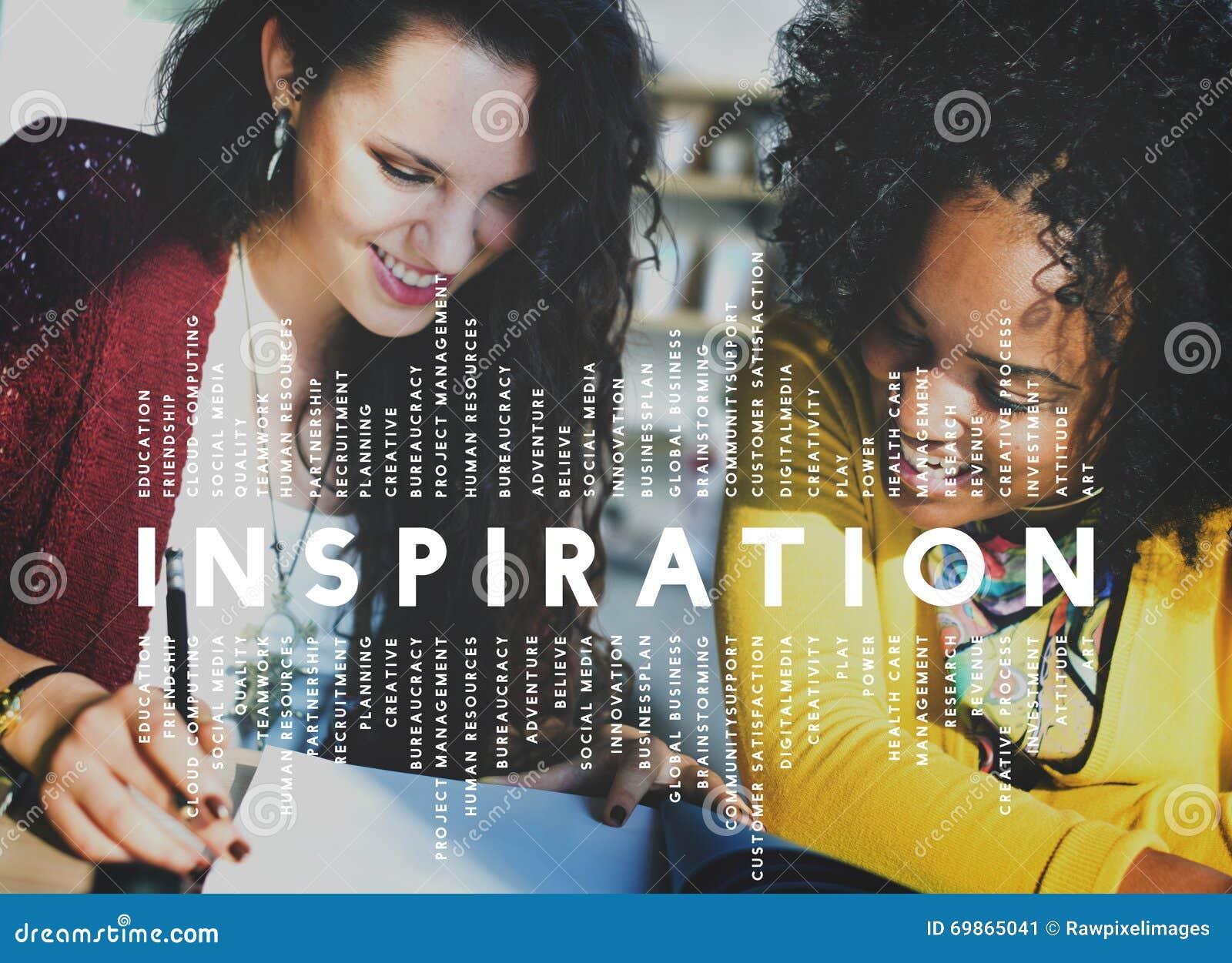 Inspirationambitionfantasi inspirerar dröm- begrepp