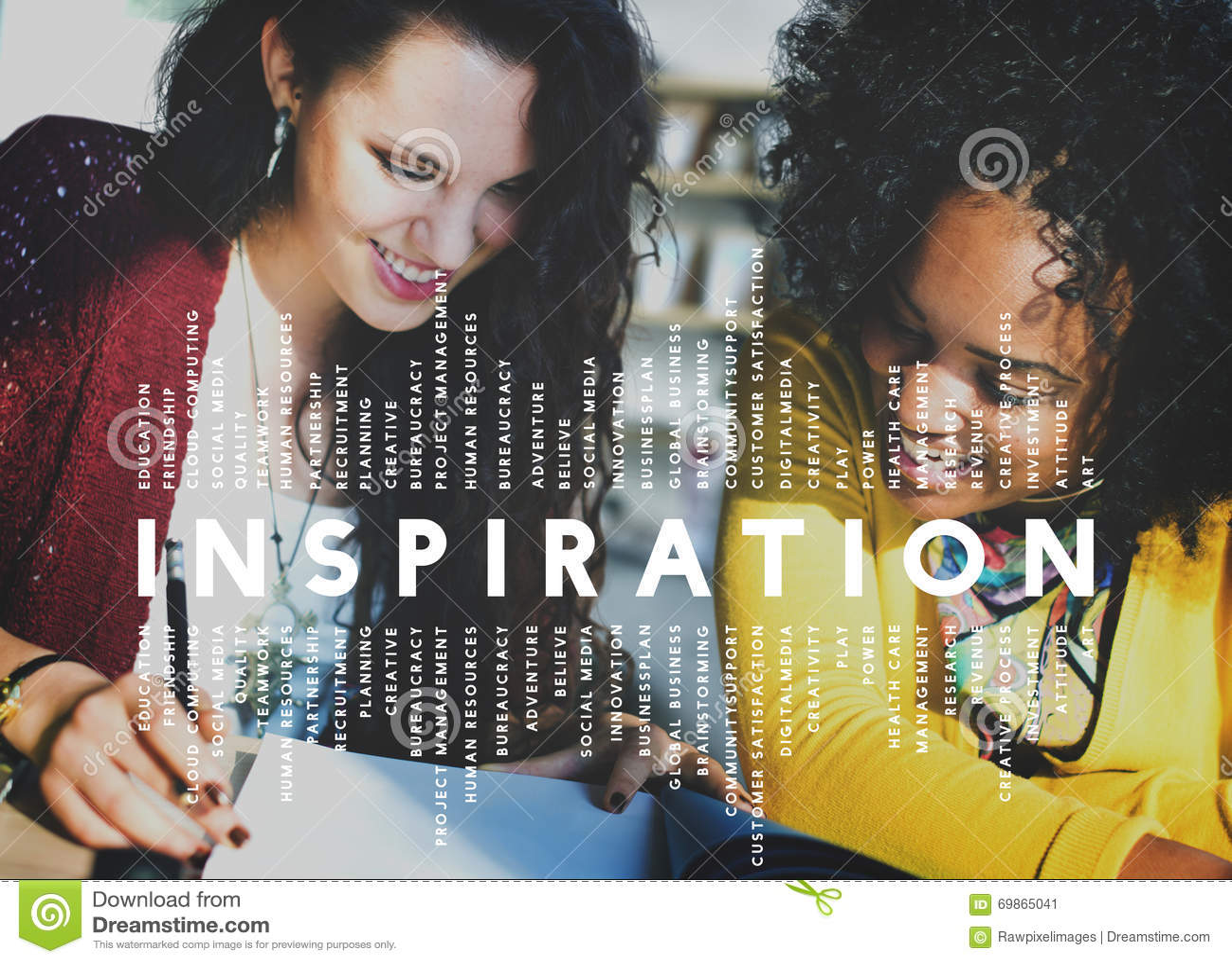 Inspirations-Aspirations-Fantasie spornen Traumkonzept an