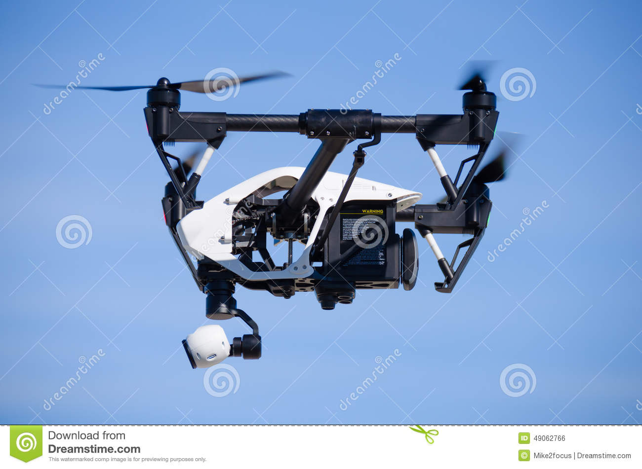 Inspire 1 Drone Flying Side View Closeup