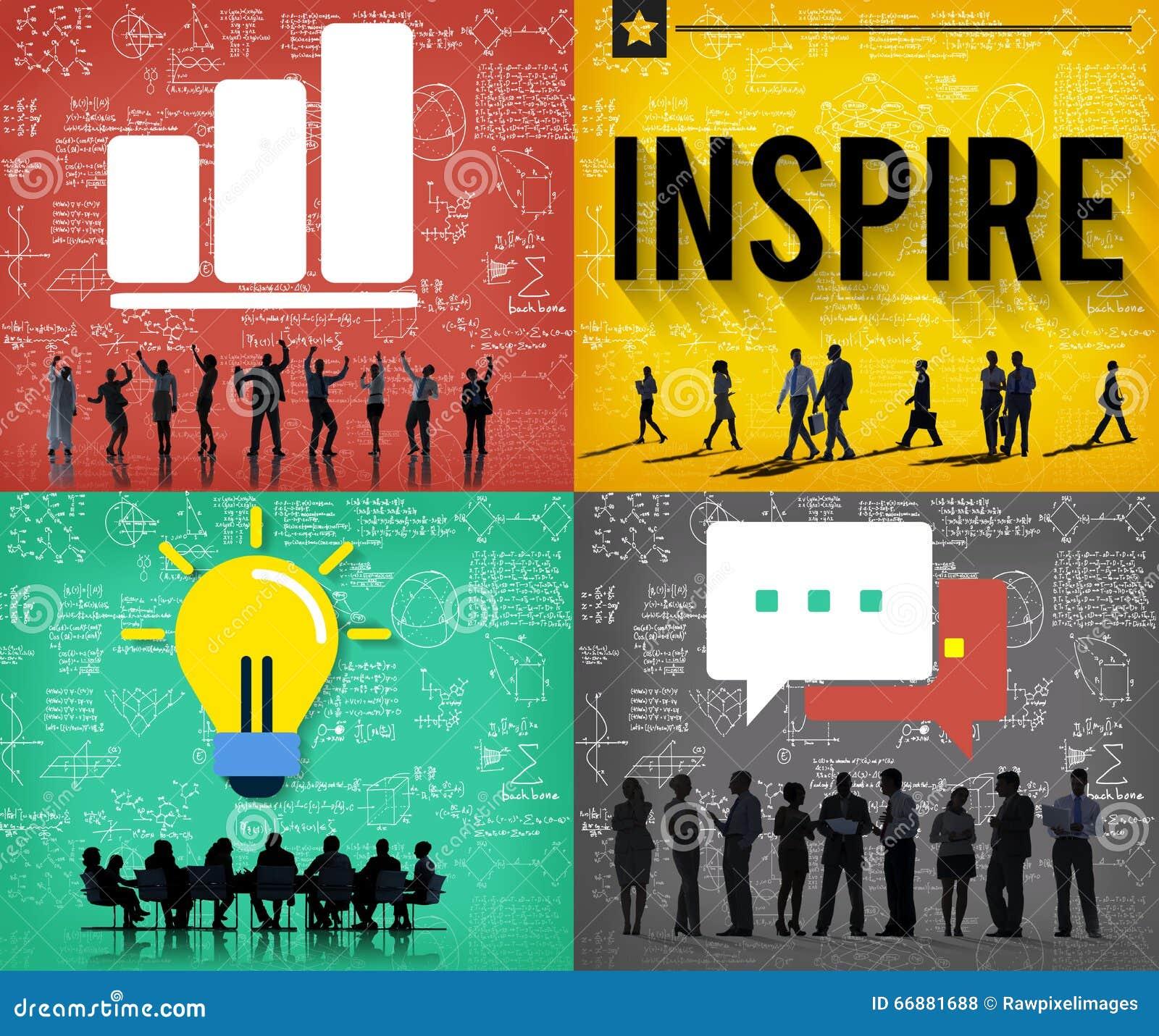 Inspire el concepto esperanzado creativo de Vision de la inspiración