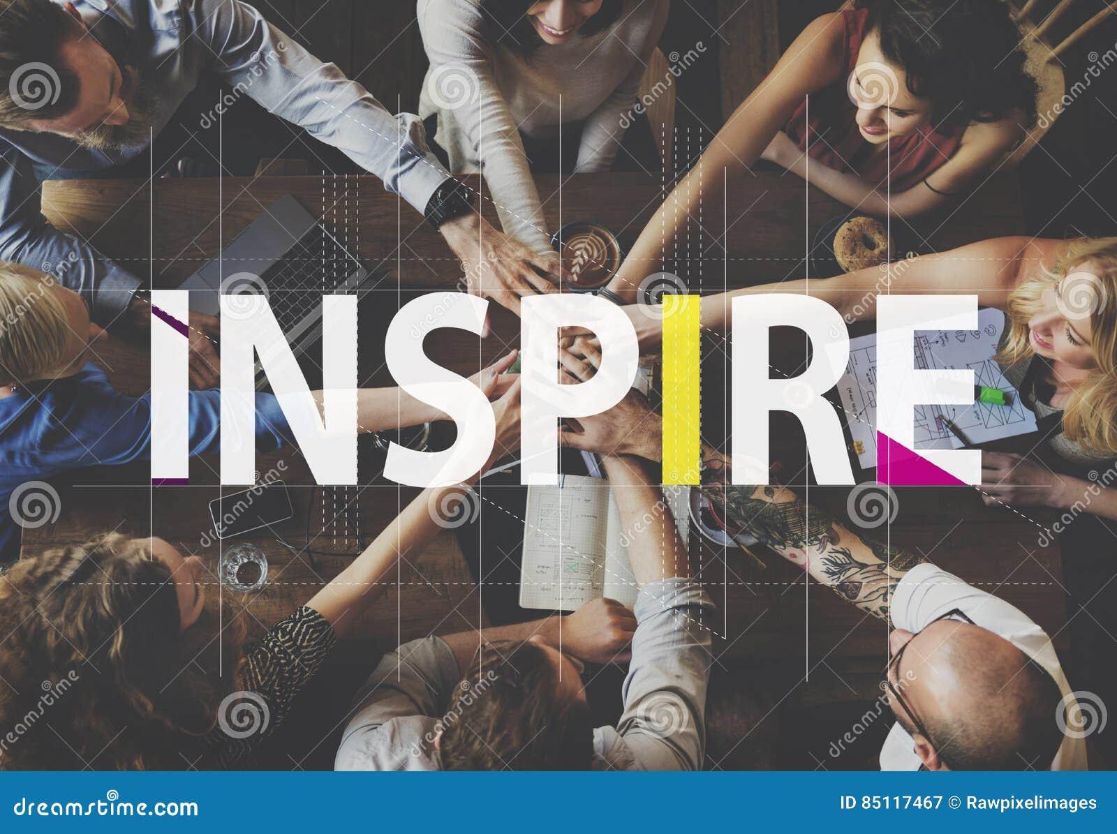 Inspire Ideas Creative People Graphic Concept