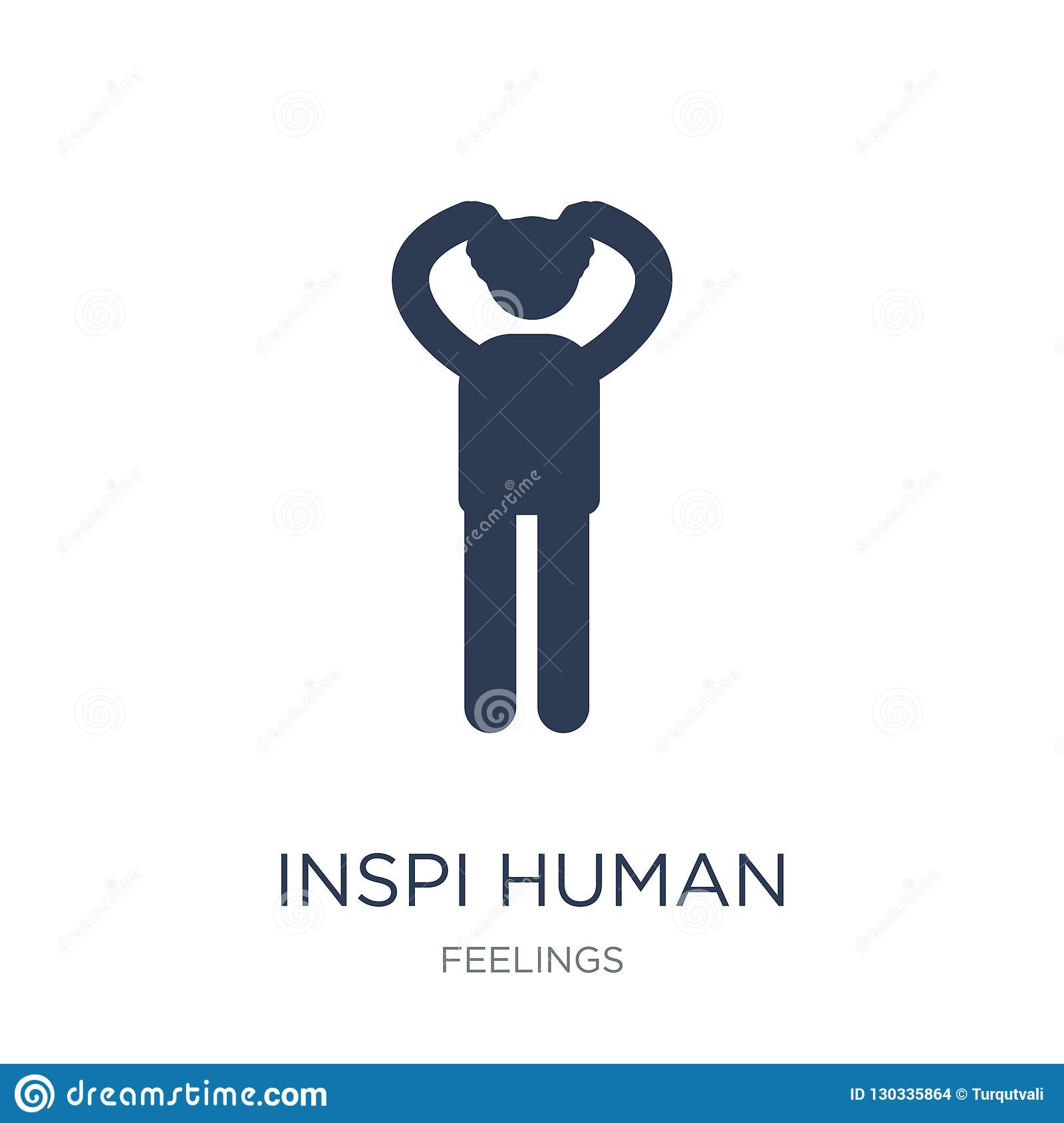 inspired human icon. Trendy flat vector inspired human icon on w
