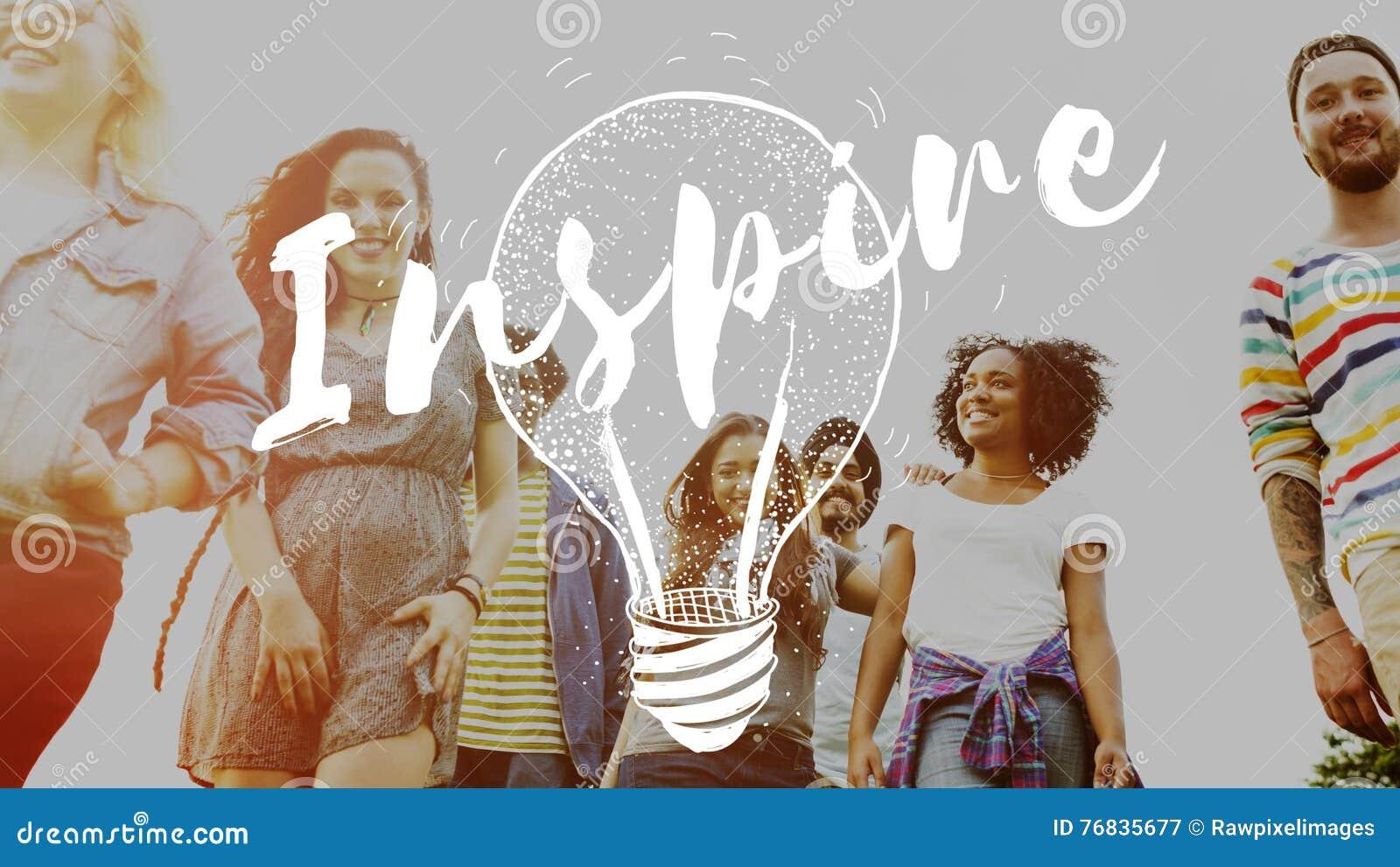 Inspireer Creatief de Creativiteitconcept van de Inspiratiemotivatie