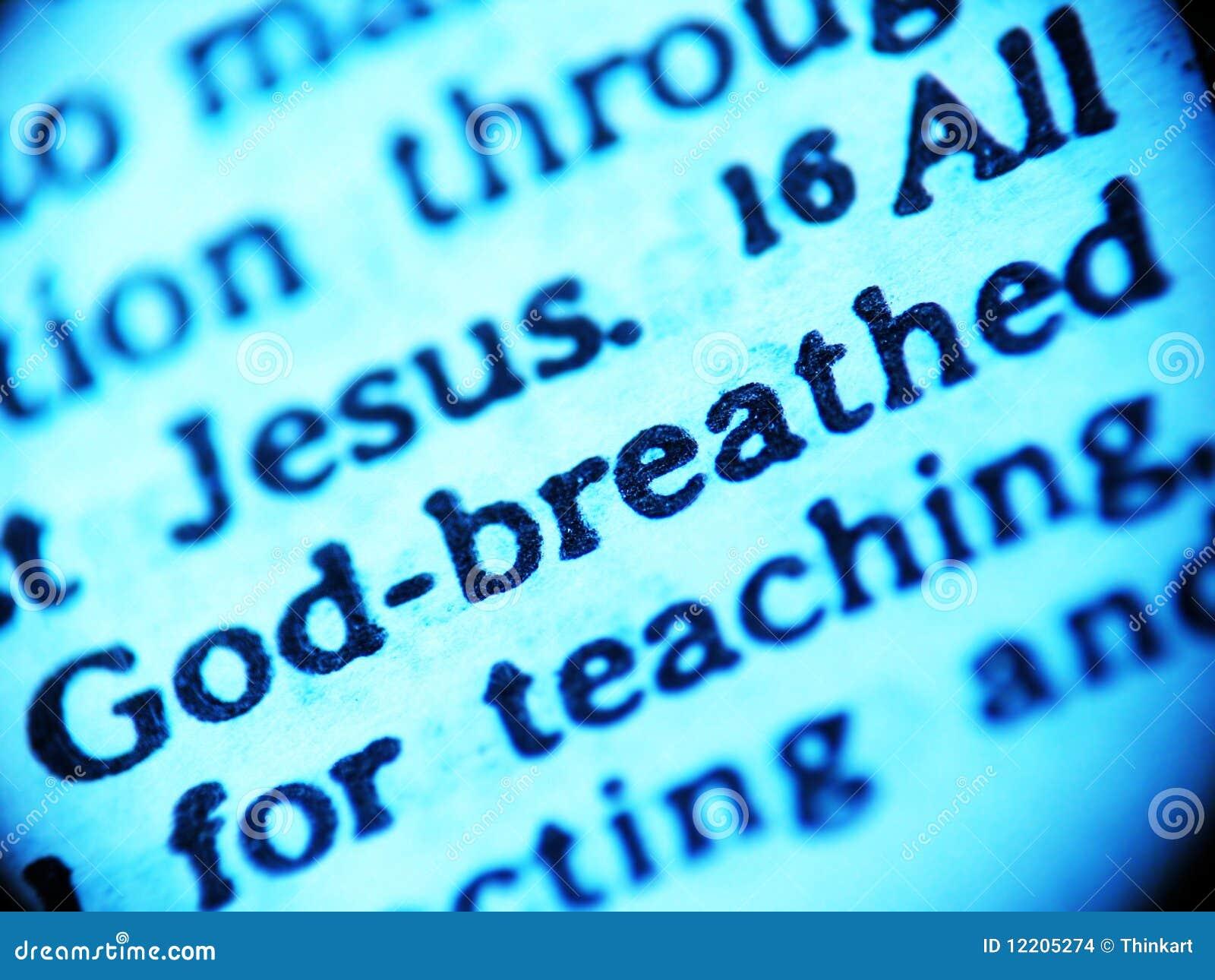 Inspirerad scripture för bibelgud
