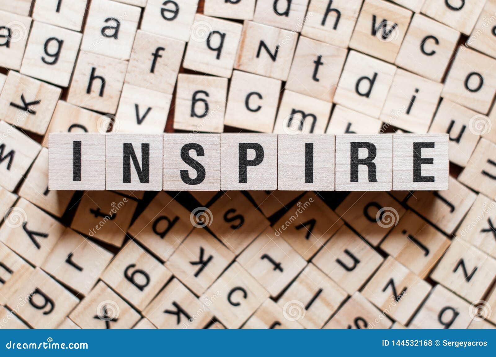 Inspirez le concept de mot