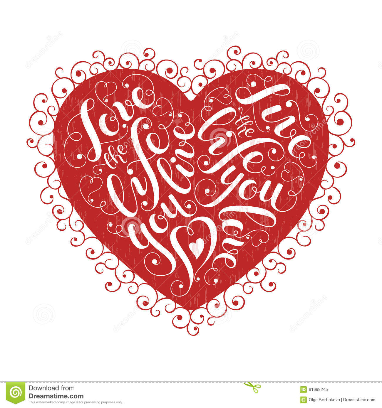 Inspiring Heart Shaped Poster Stock Vector