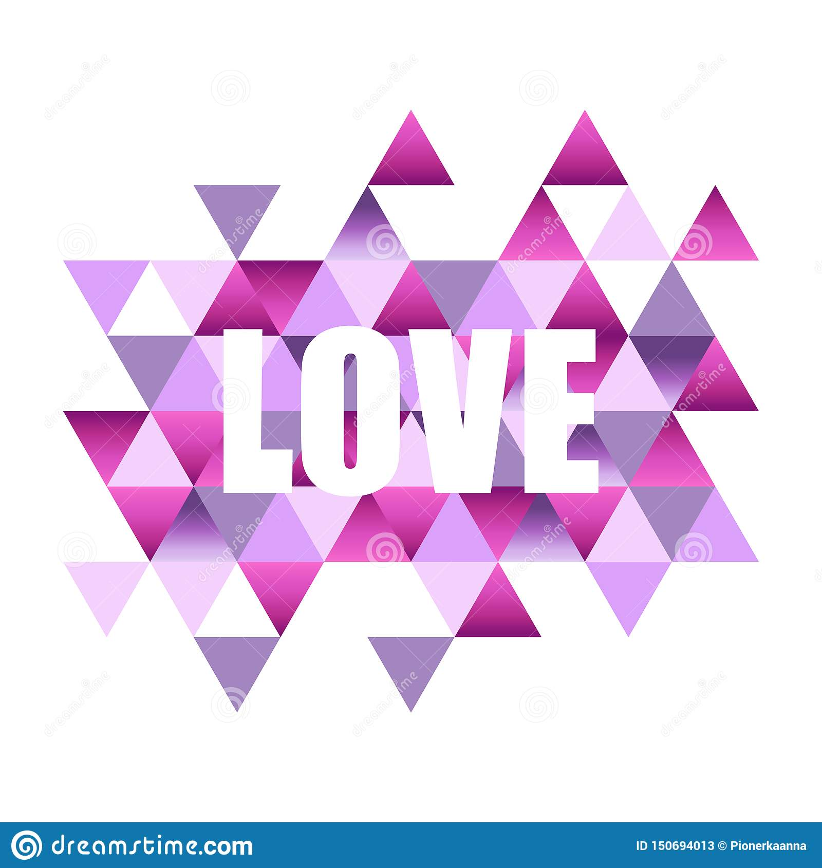 Inspiring Quote With The Word Love On An Abstract Background