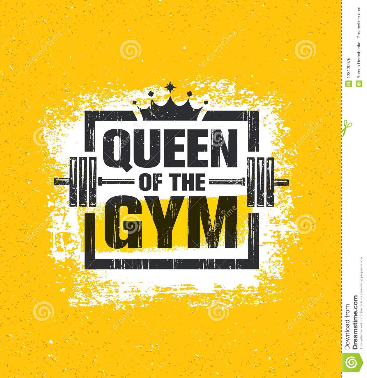 Inspiring Woman Female Workout And Fitness Gym Motivation Quote Illustration Sign Creative Strong Sport Vector Stock Vector Illustration Of Athlete Active 123120075