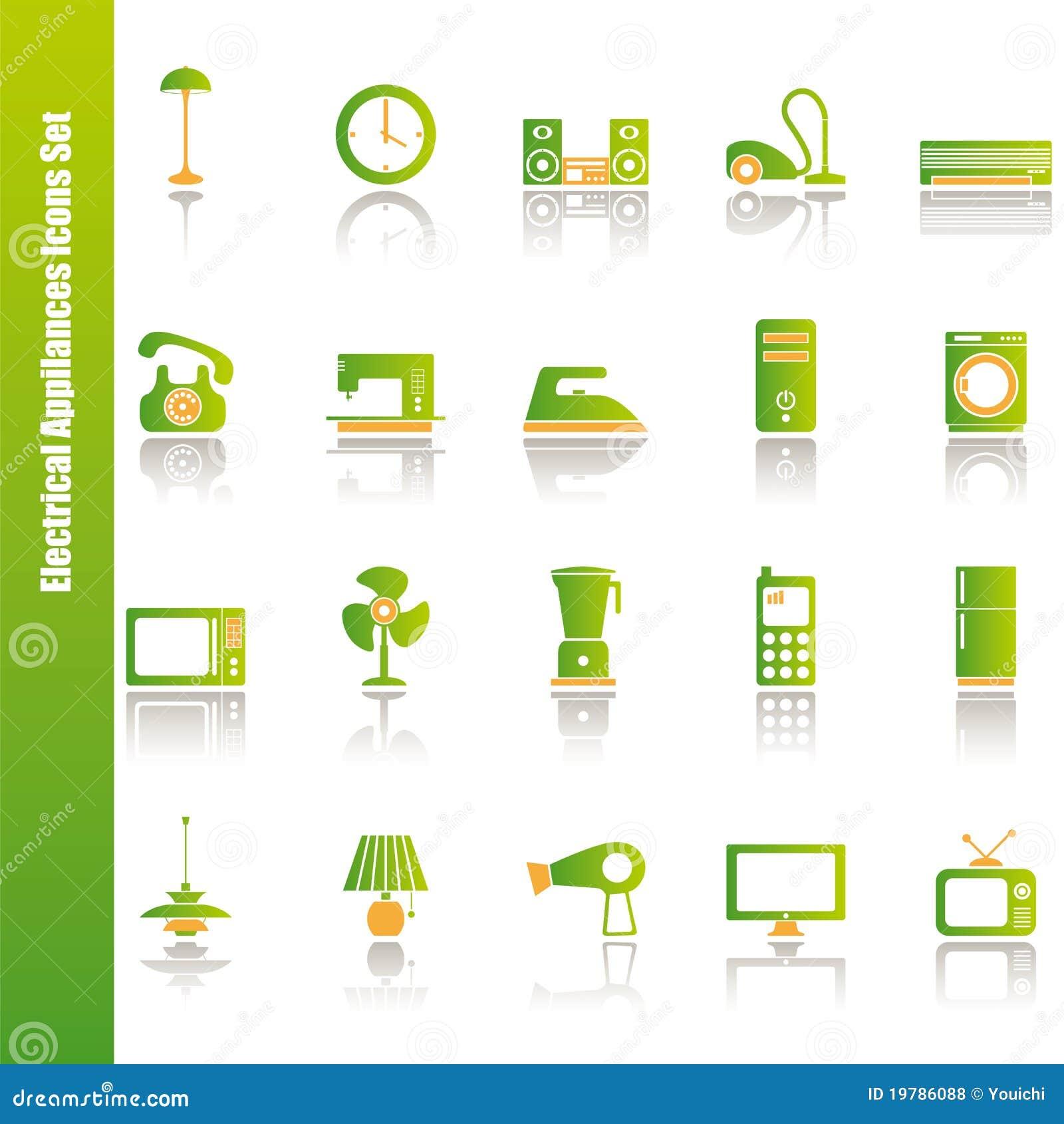 Inställda elektriska symboler för anordningar