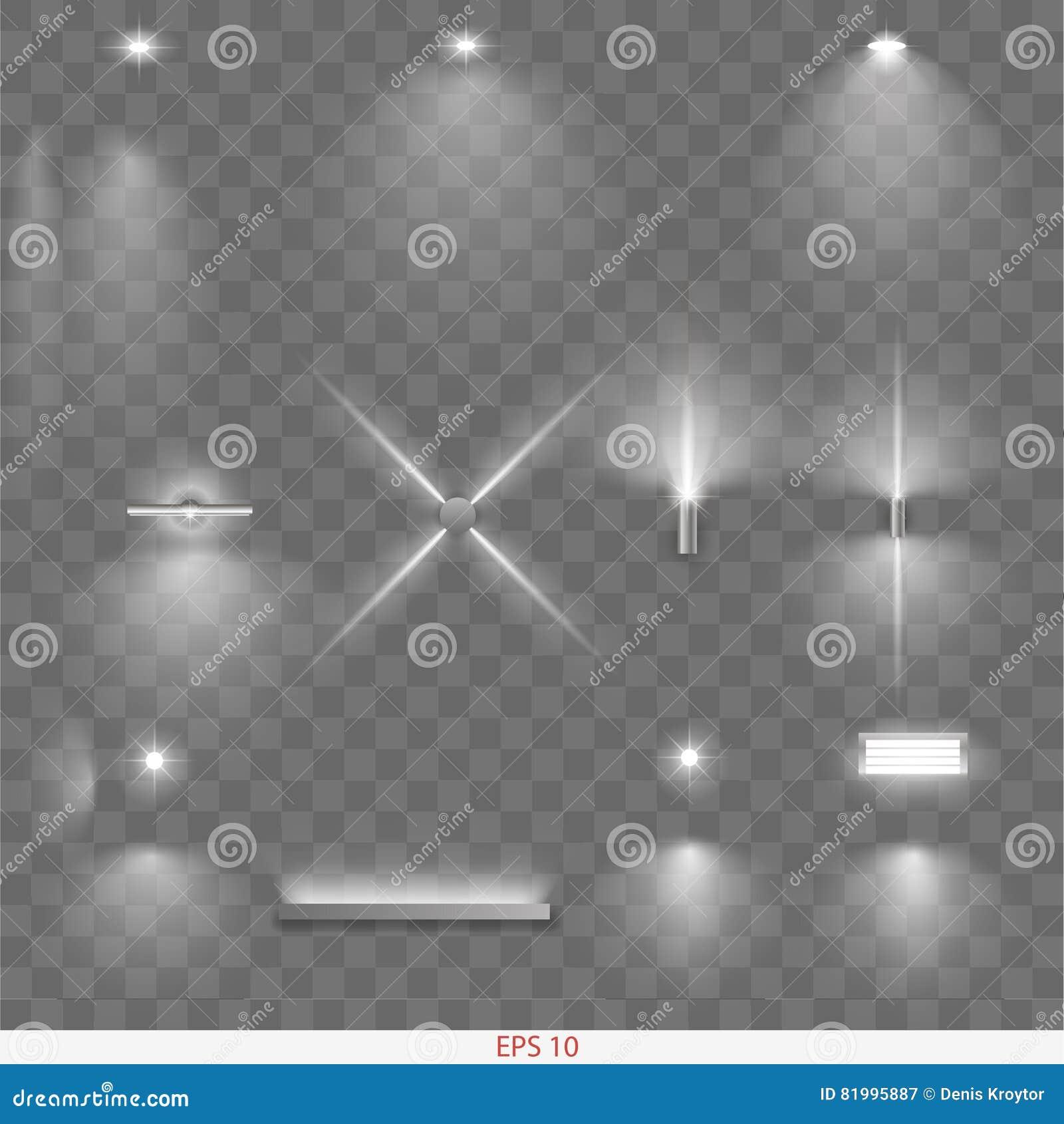 Inställda olika lampor