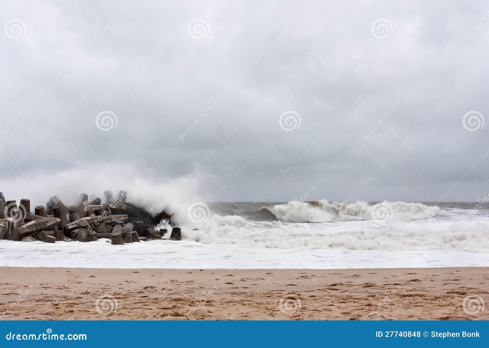 InställningsNew Jersey för orkan sandig kust