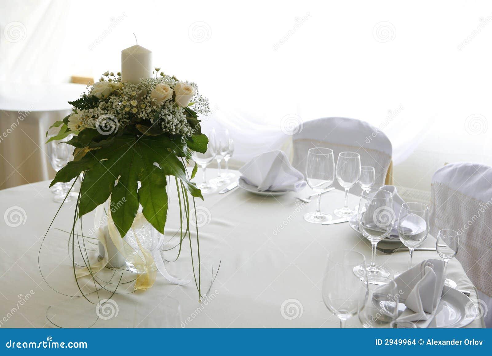 Inställningstabellbröllop