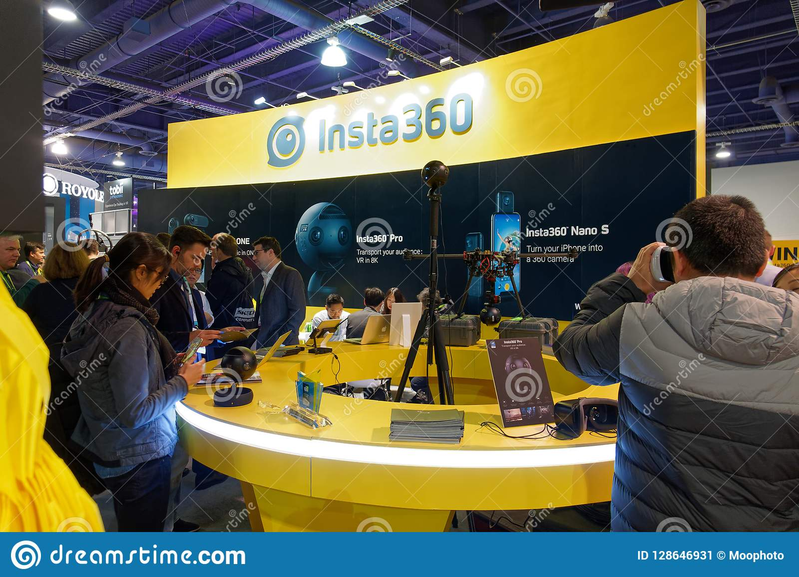 Insta360 Convention Booth At CES 2018 Editorial Photo