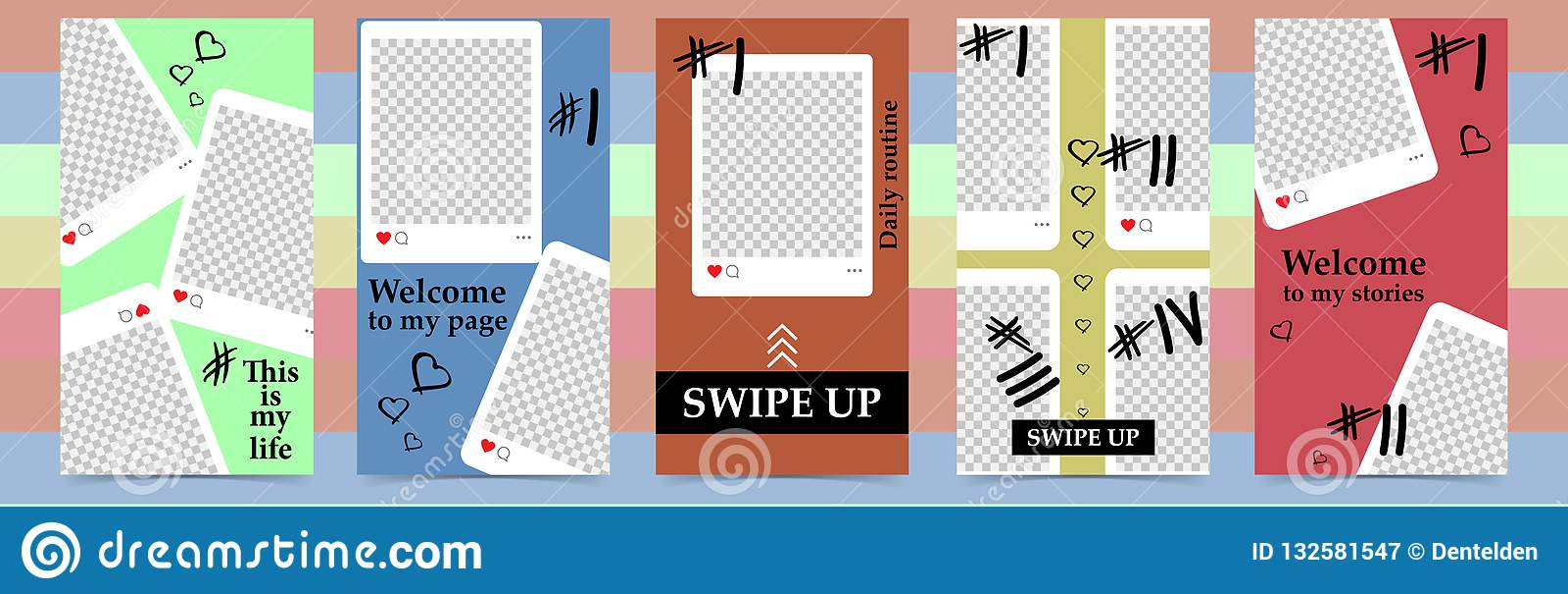 Instagram故事的,销售时髦编辑可能的模板 社会媒介的设计背景 手拉的抽象卡片