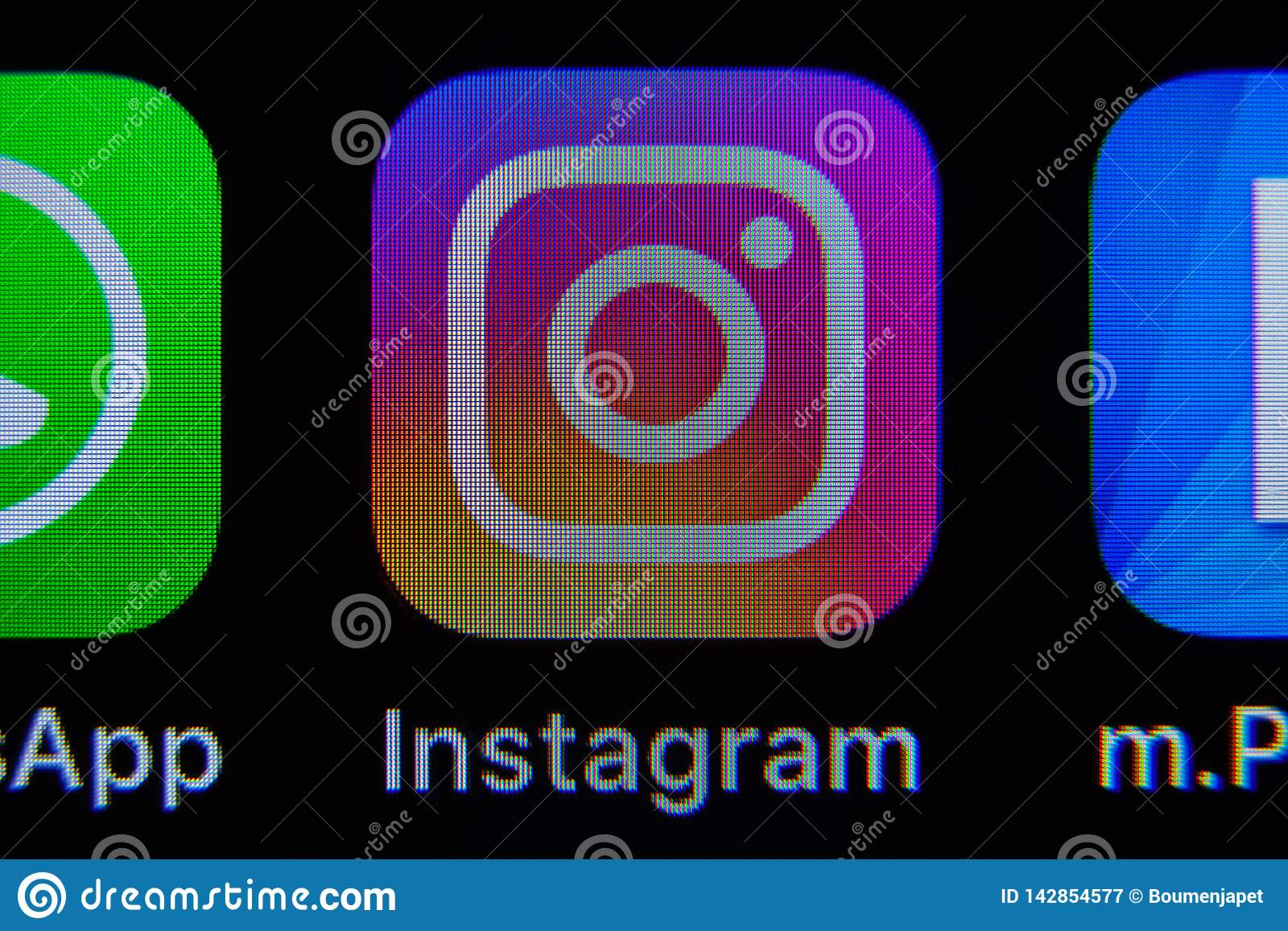 Instagram app on IPhone editorial photography  Image of
