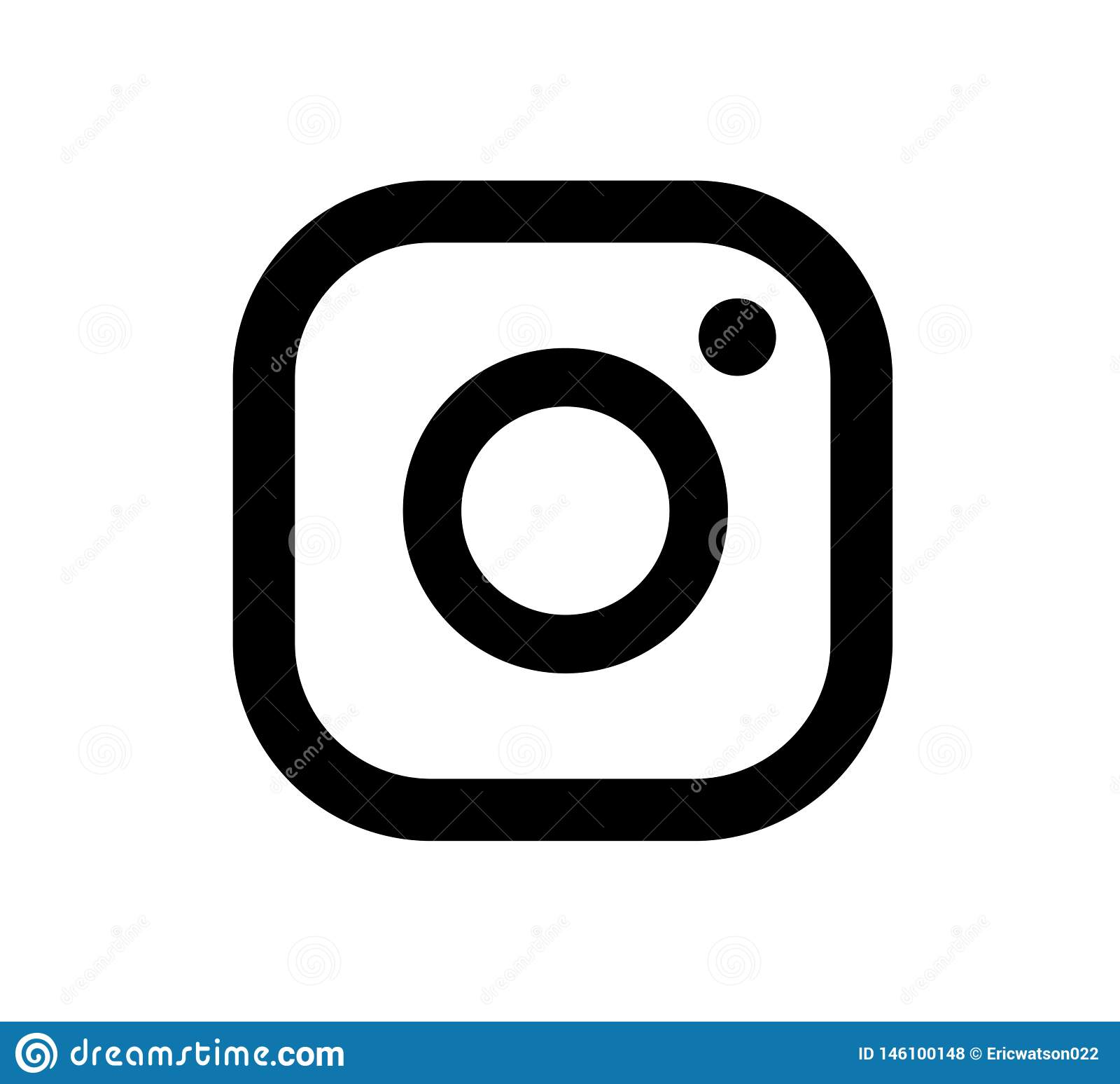 Vector Illustration Instagram: Instagram Logo Icon Vector Black Design Illustration