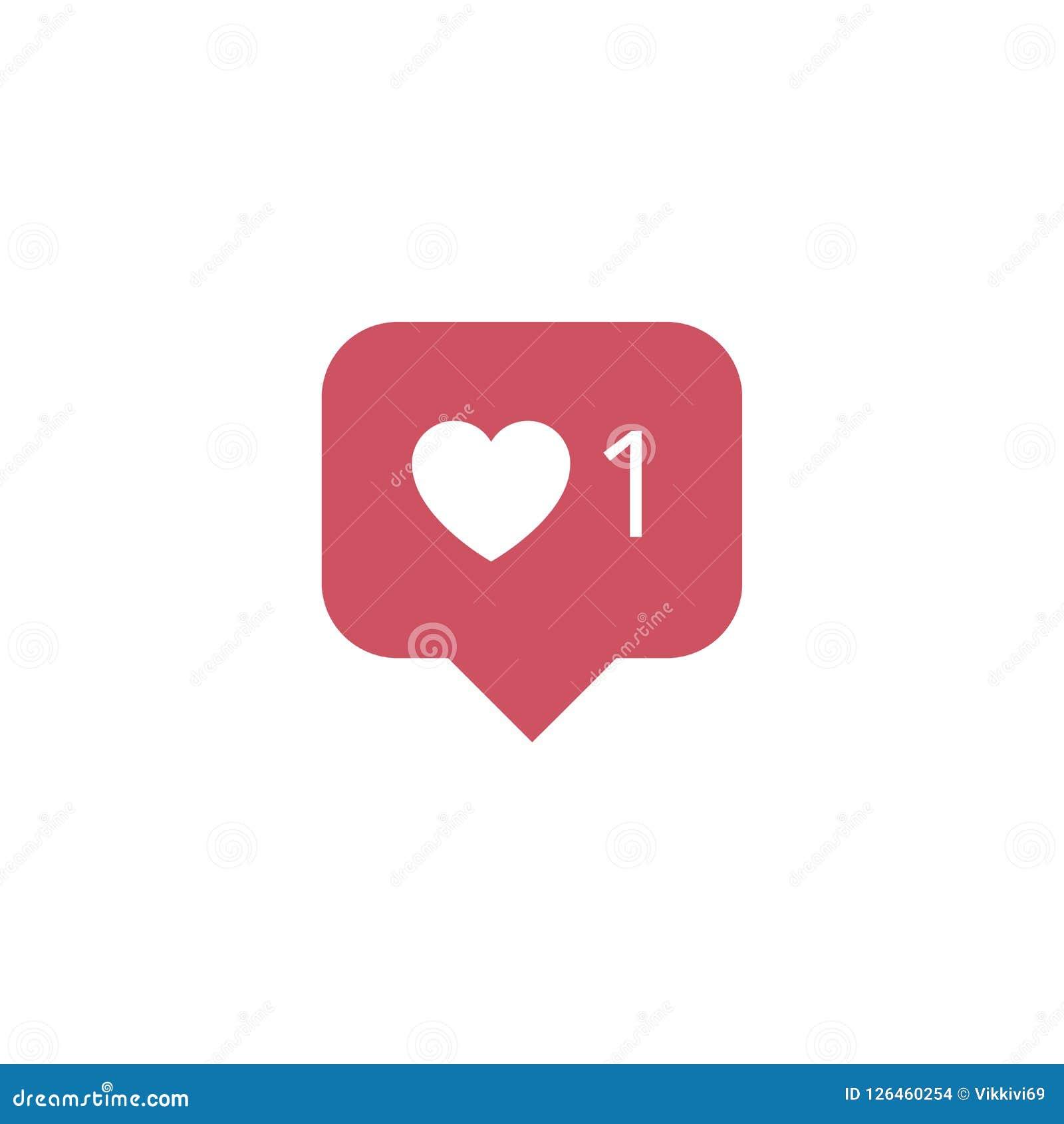 Vector Illustration Instagram: Instagram Notification Vector Icon. Follower. New Icon
