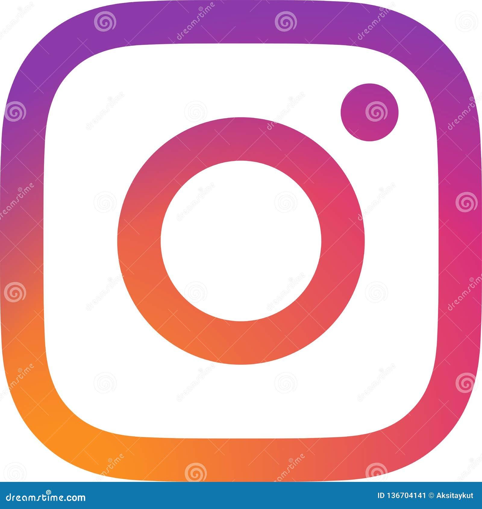 Vector Illustration Instagram: Instagram Logo Vector Editorial Photo