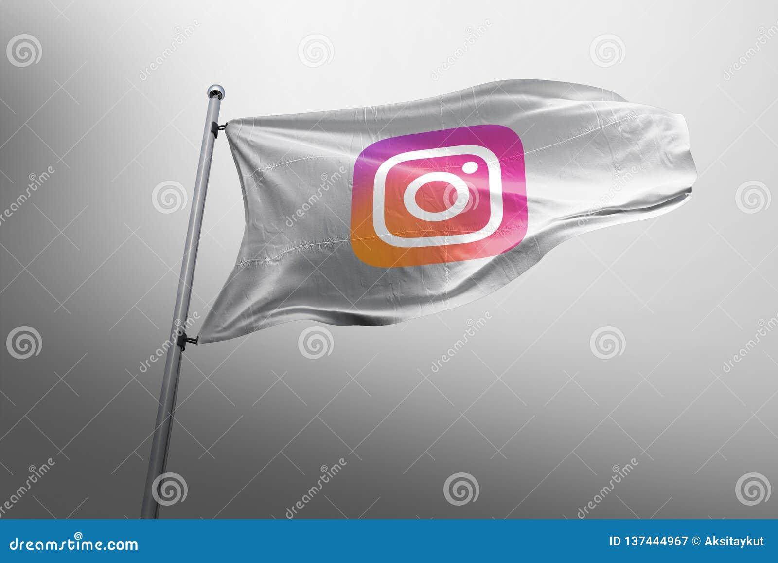 Instagram photorealistic flag editorial