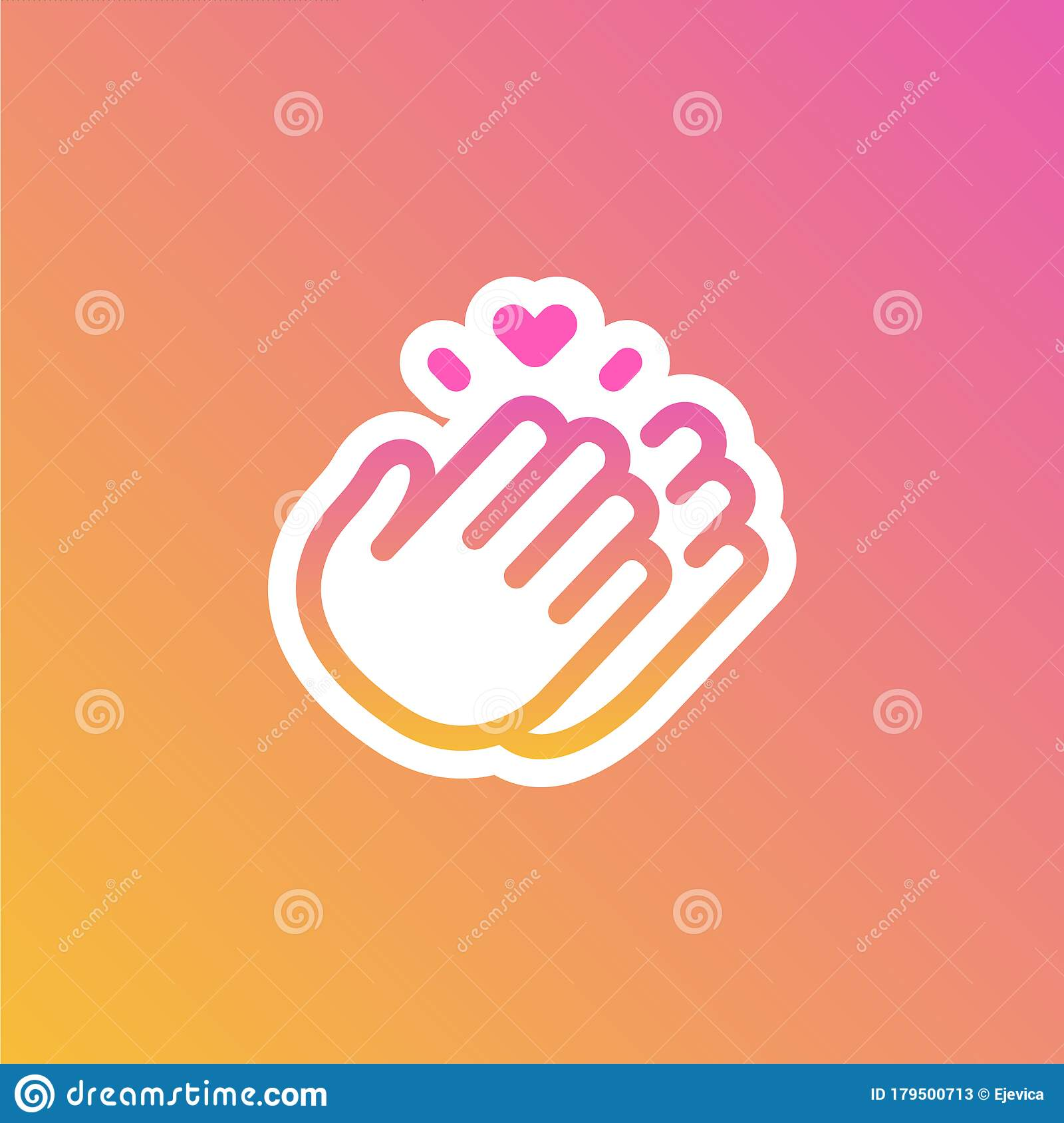 instagram sticker thank you hour icon clapping hands stock vector illustration of sign template 179500713 dreamstime com