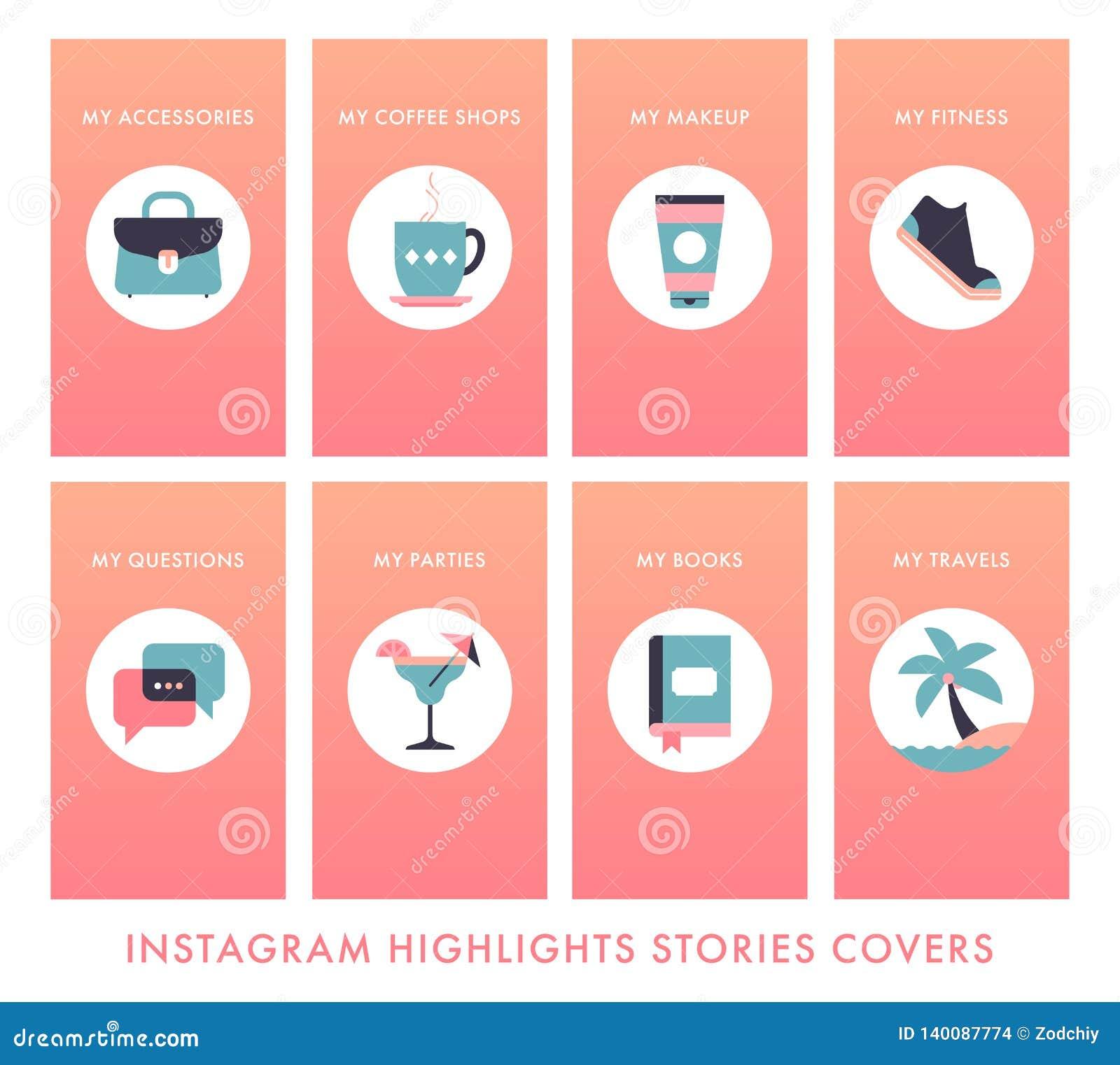 Instagram-story-highlights Copy Stock Vector - Illustration