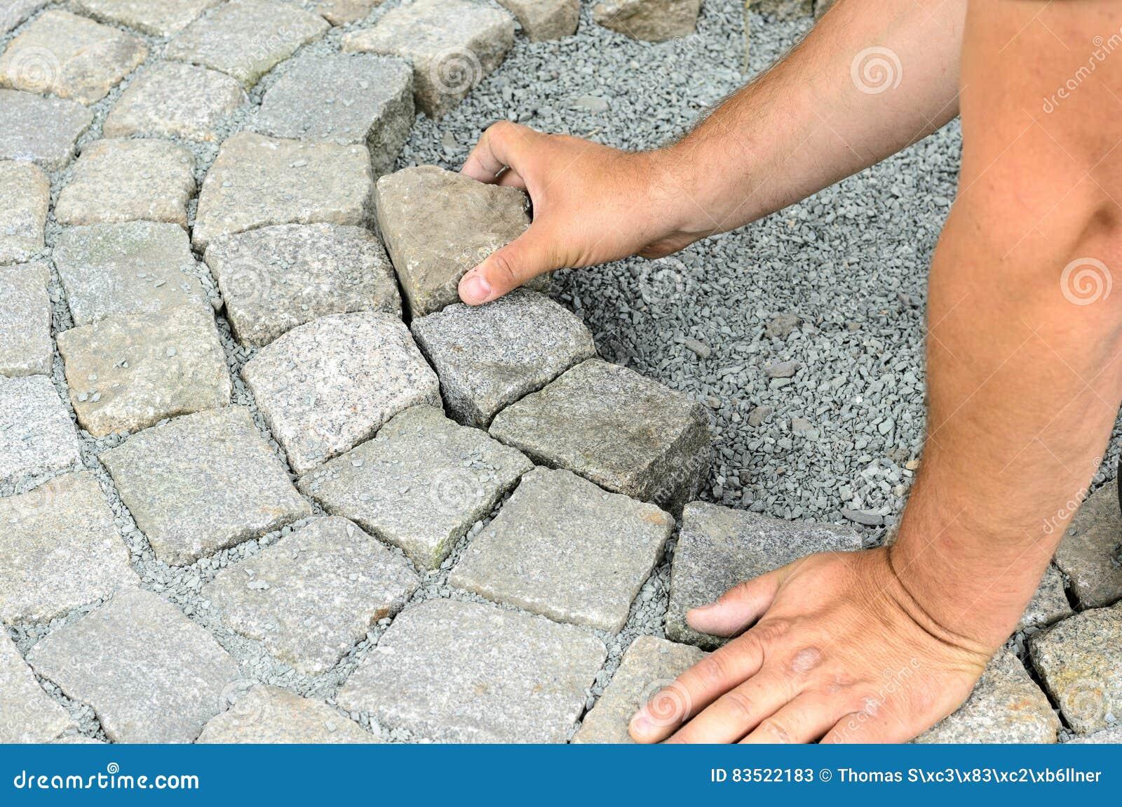 Instalación de bloques de la piedra
