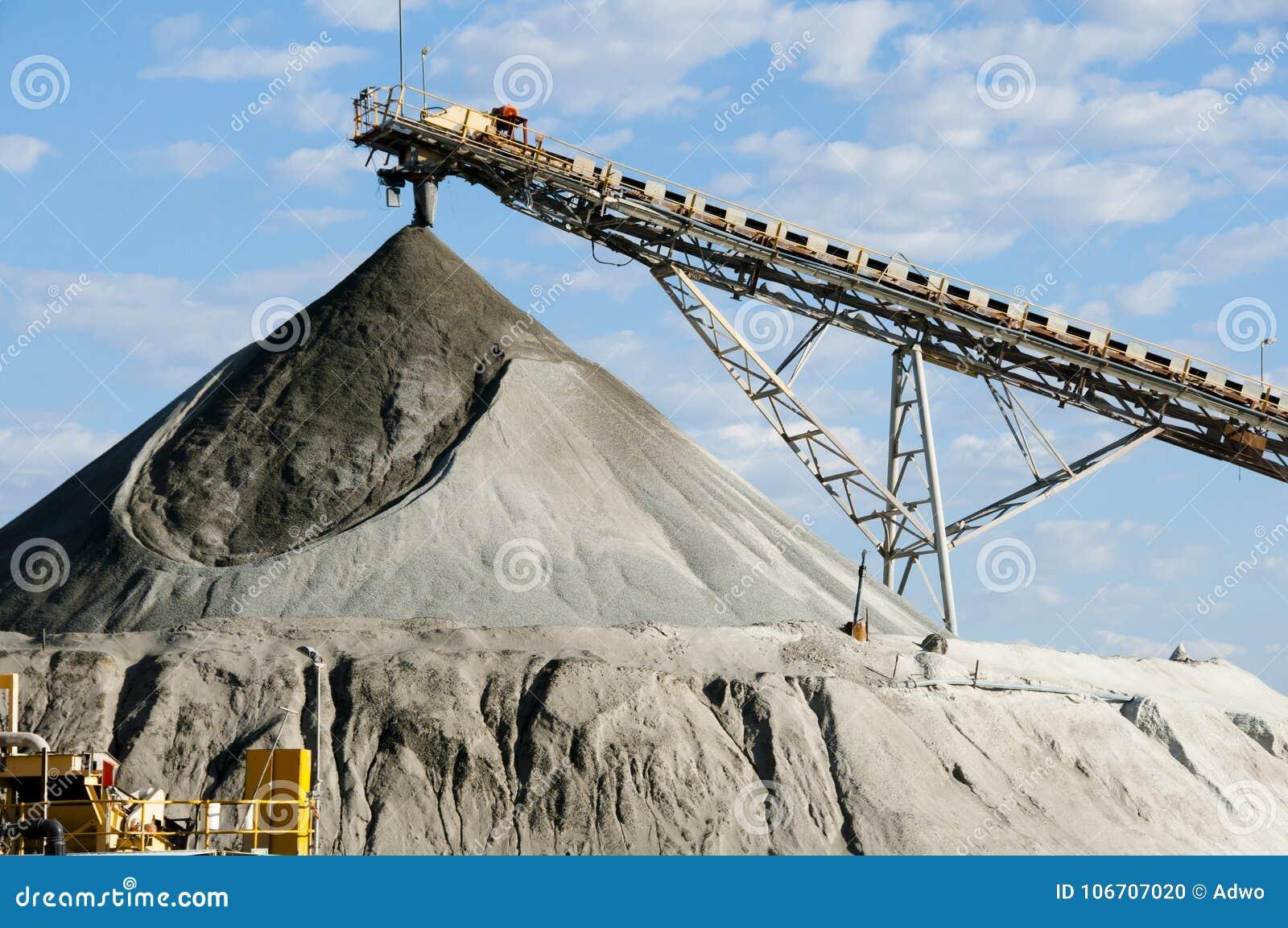 Instalación de procesamiento minera