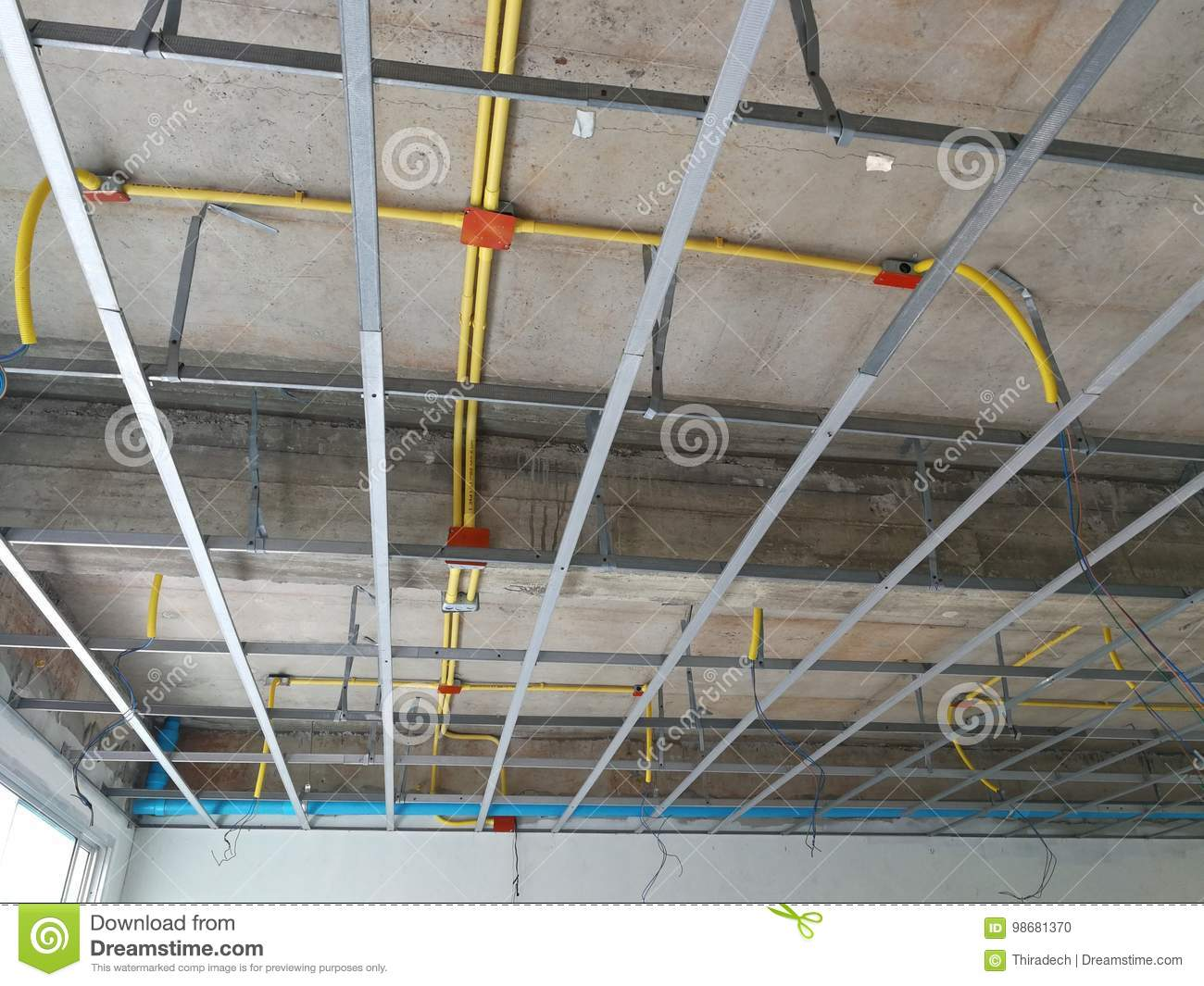 install the ceiling frame and wiring pipe stock photo wiring steel frame house wiring steel frame house wiring steel frame house wiring steel frame house