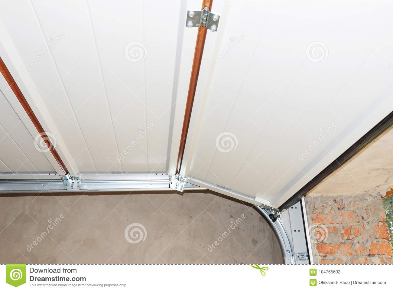 Install Garage Door Metal Post Rail And Spring Installation And