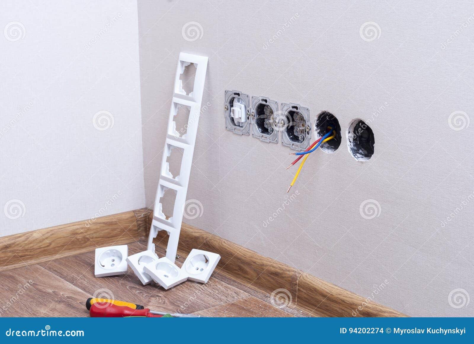 Installatie van elektroafzet