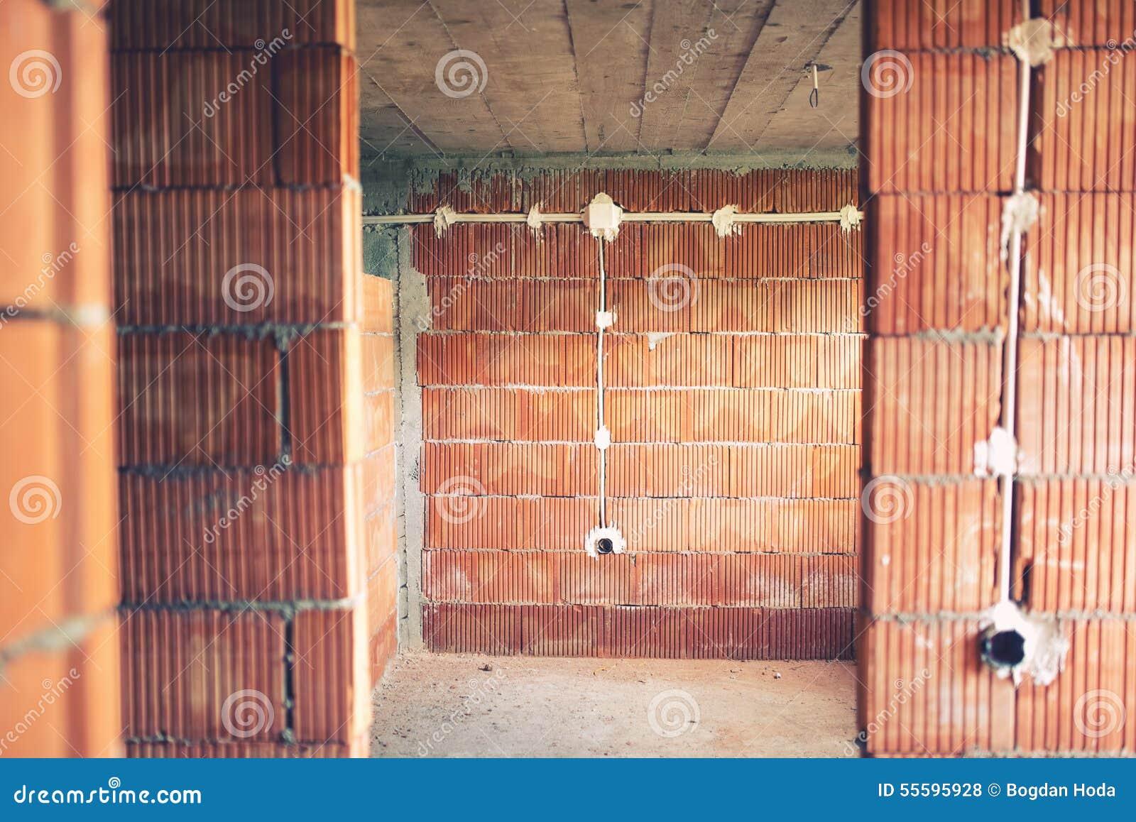 Installation de fils et tuyaux lectriques de l - Cambiar instalacion electrica sin rozas ...