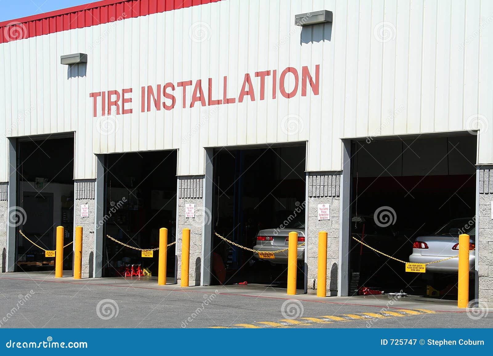 Installation de pneu