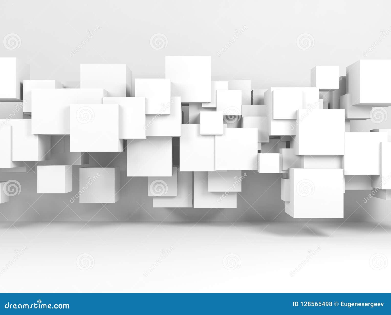 Installation Des Cubes En Vol Dans L\'intérieur De La Chambre ...
