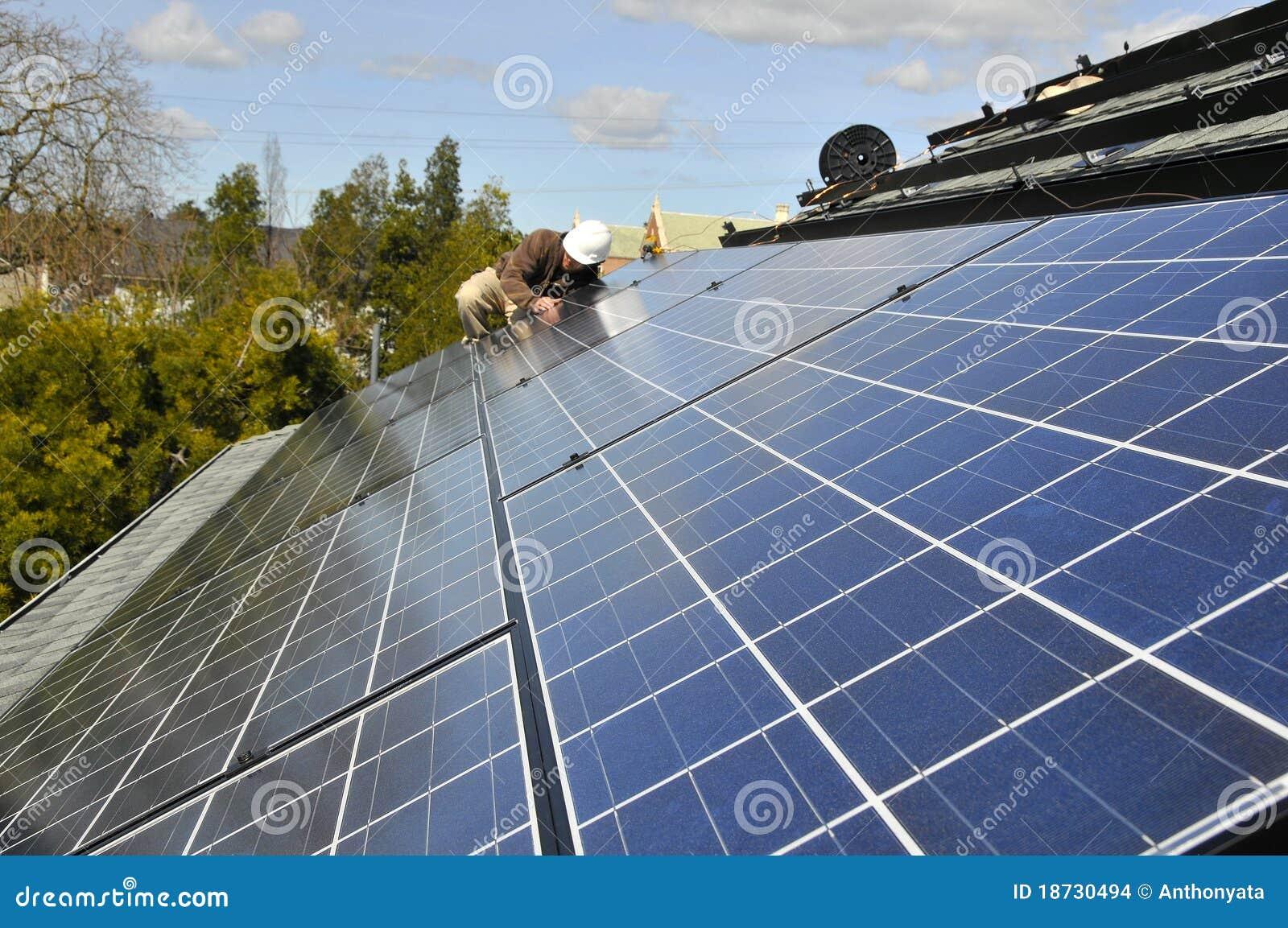 Installation du panneau solaire câblant 2