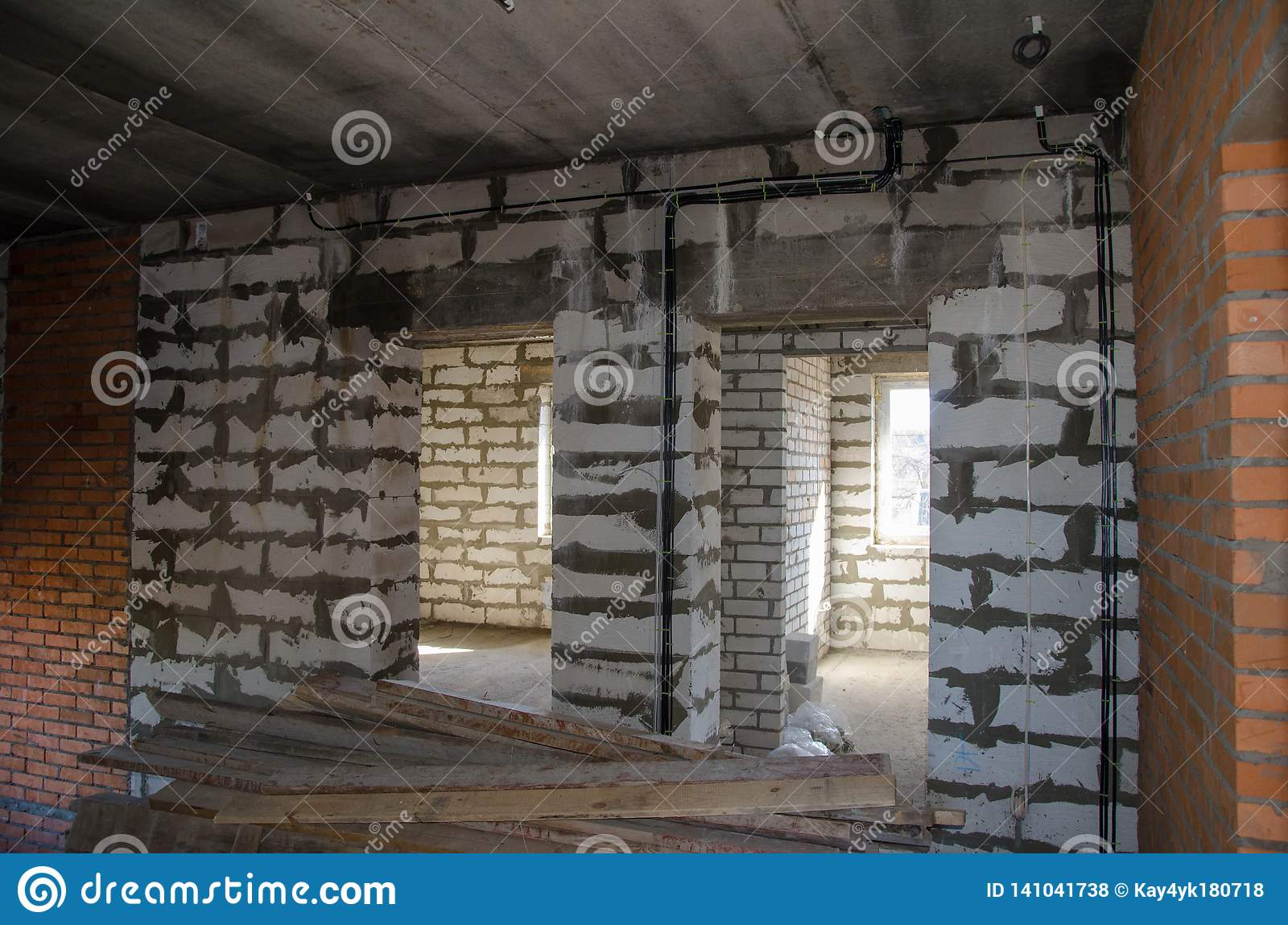 Installation Of Electrical Wiring In The Room  The