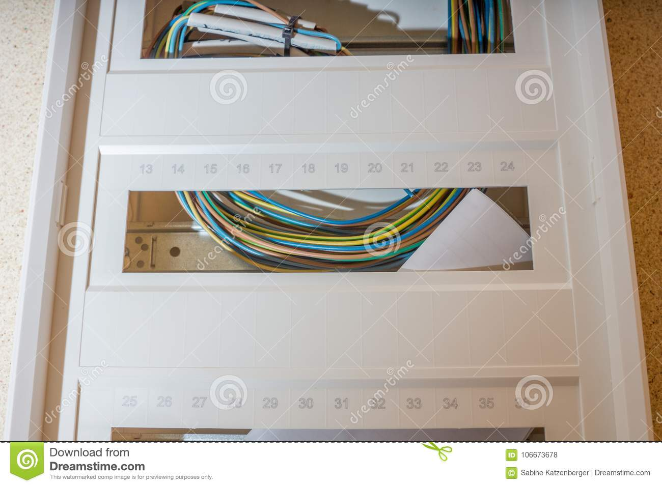 Download Installation Of A New Fuse Box Stock Photo - Image of safety,  service: