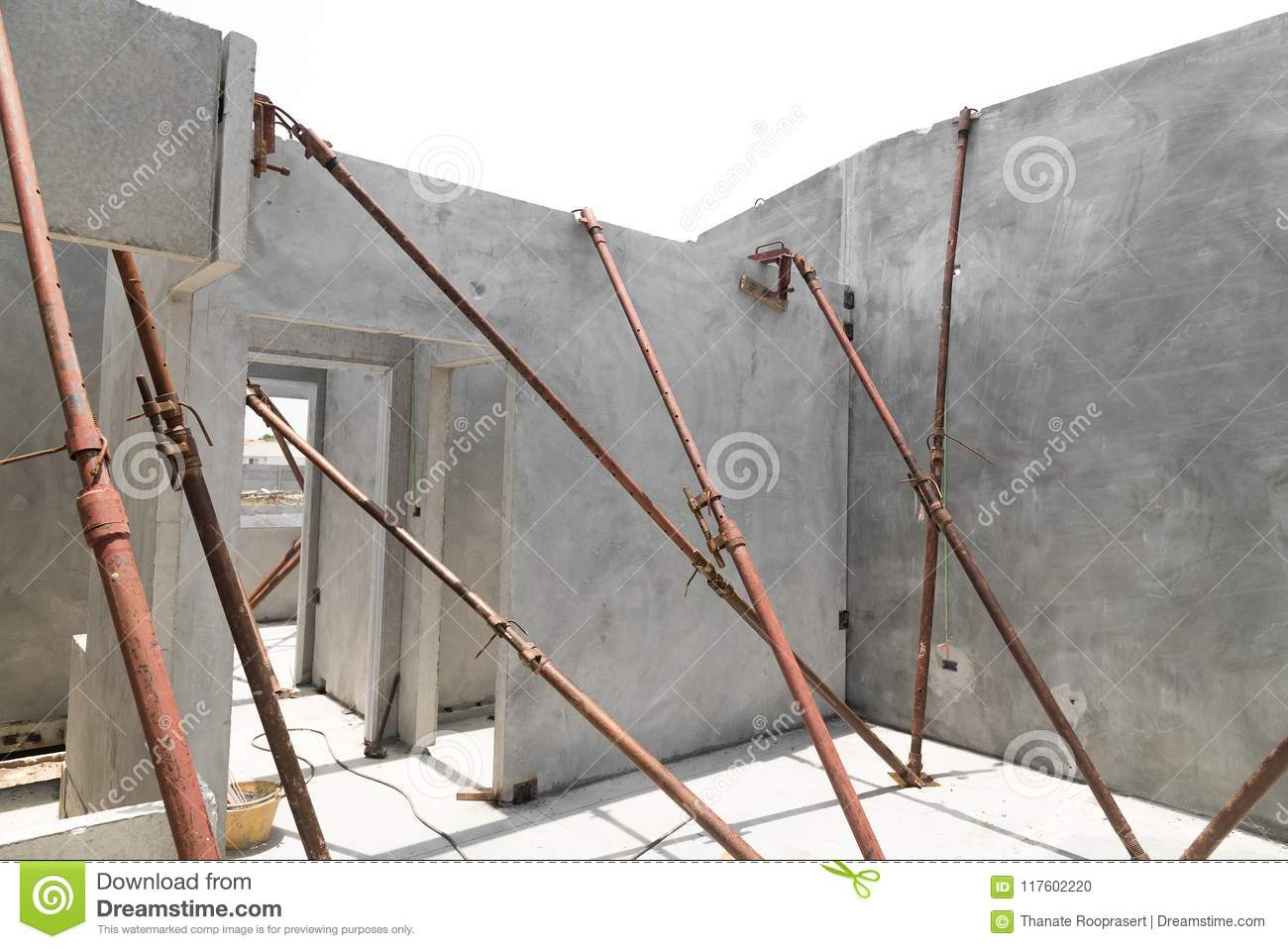 Installation Of Prefabricated Building Wall Panels Stock Photo Image Of Civil Activity 117602220