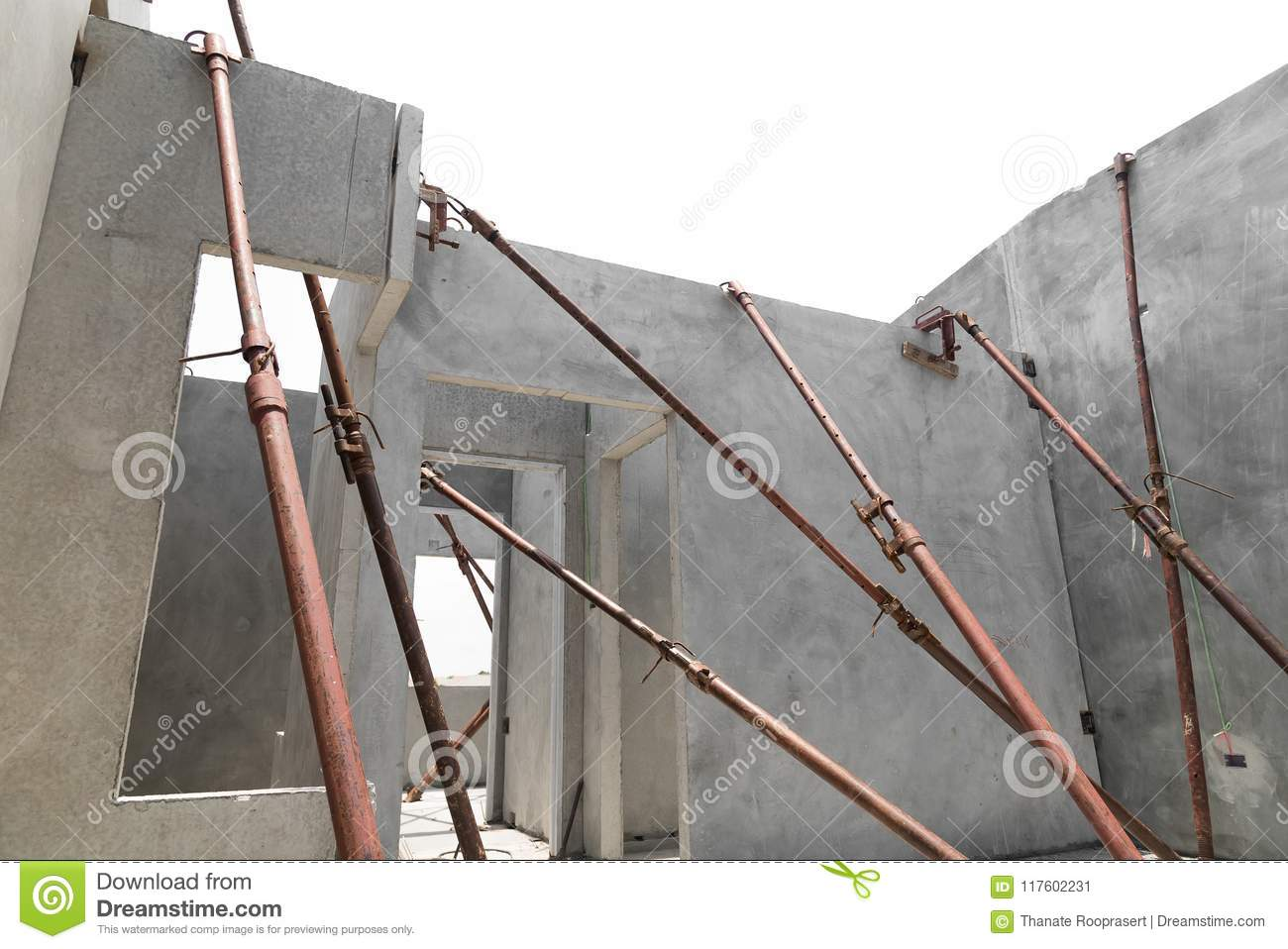 Installation Of Prefabricated Building Wall Panels Stock Image Image Of Business Cement 117602231