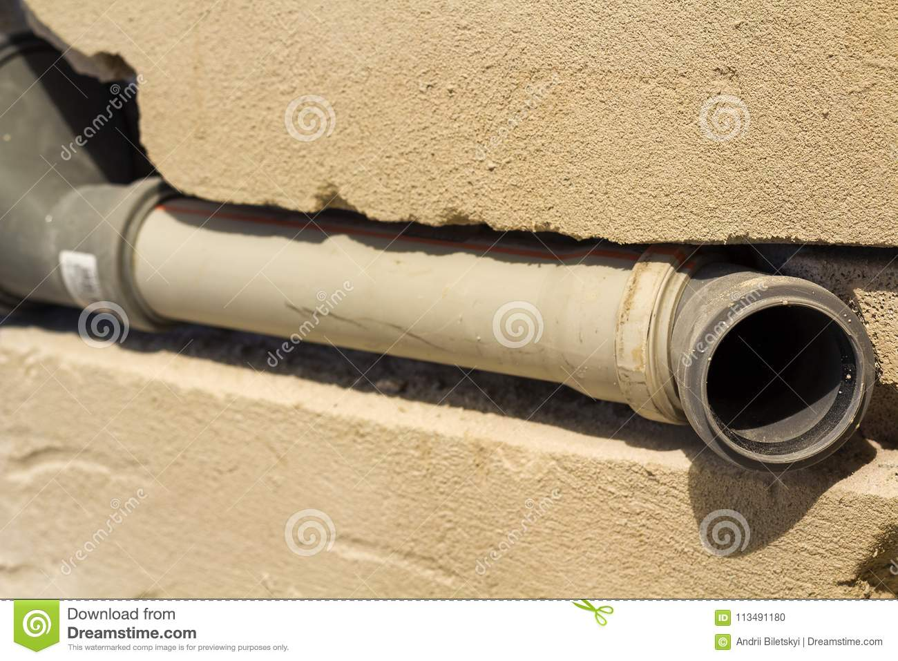 Installation Of Sewer Pipes In A Bathroom Of An Apartment Interior