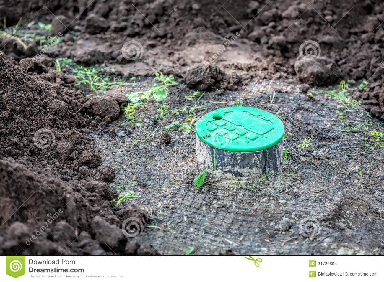 Installation Of Watering System Stock Images Image 31726804