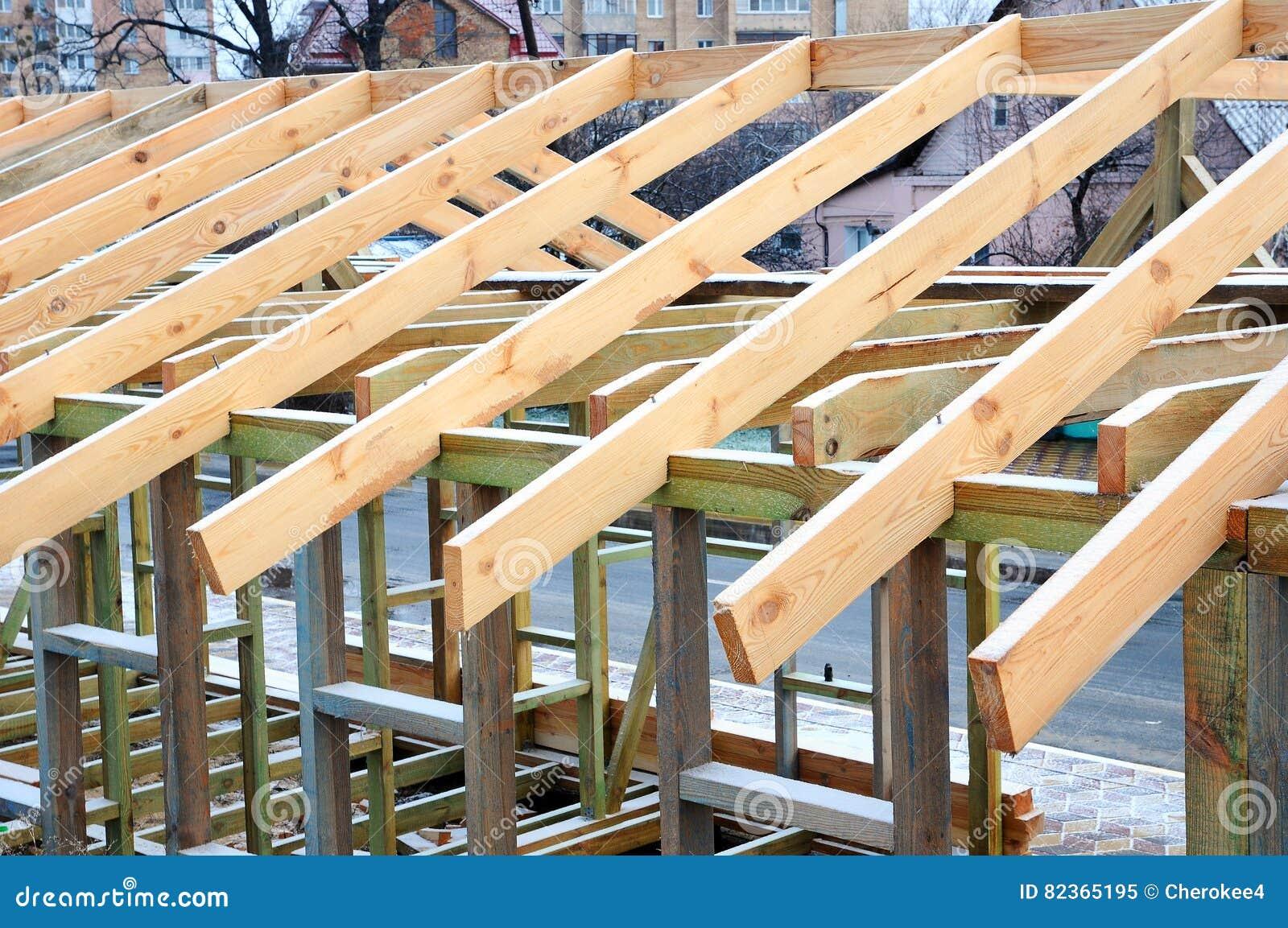 installazione dei fasci di legno a costruzione il sistema