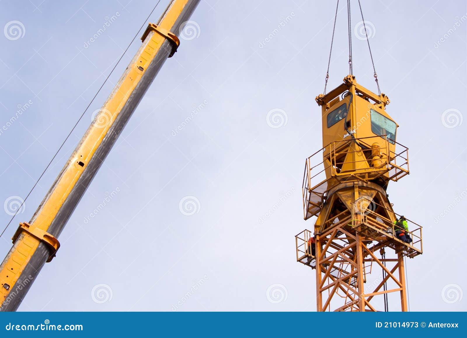Installazione della gru a torre fotografie stock for Animali domestici della cabina di nashville