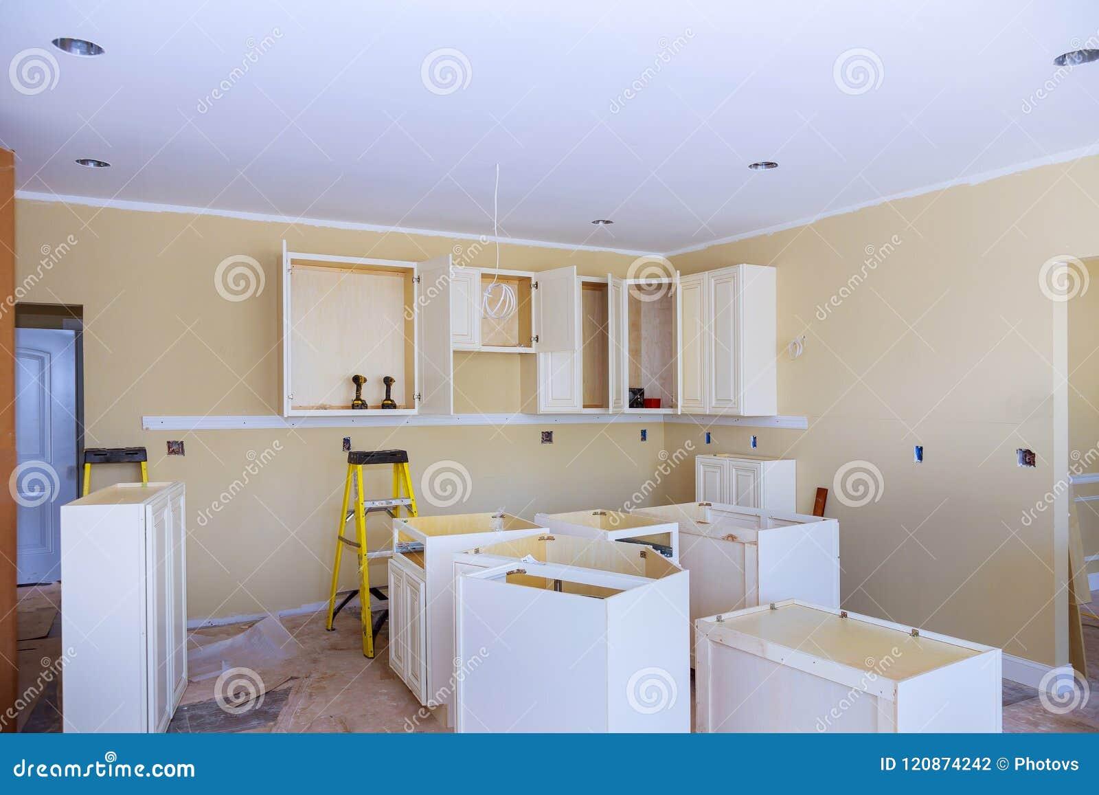 Installation Of Kitchen Installs Kitchen Cabinet. Interior ...