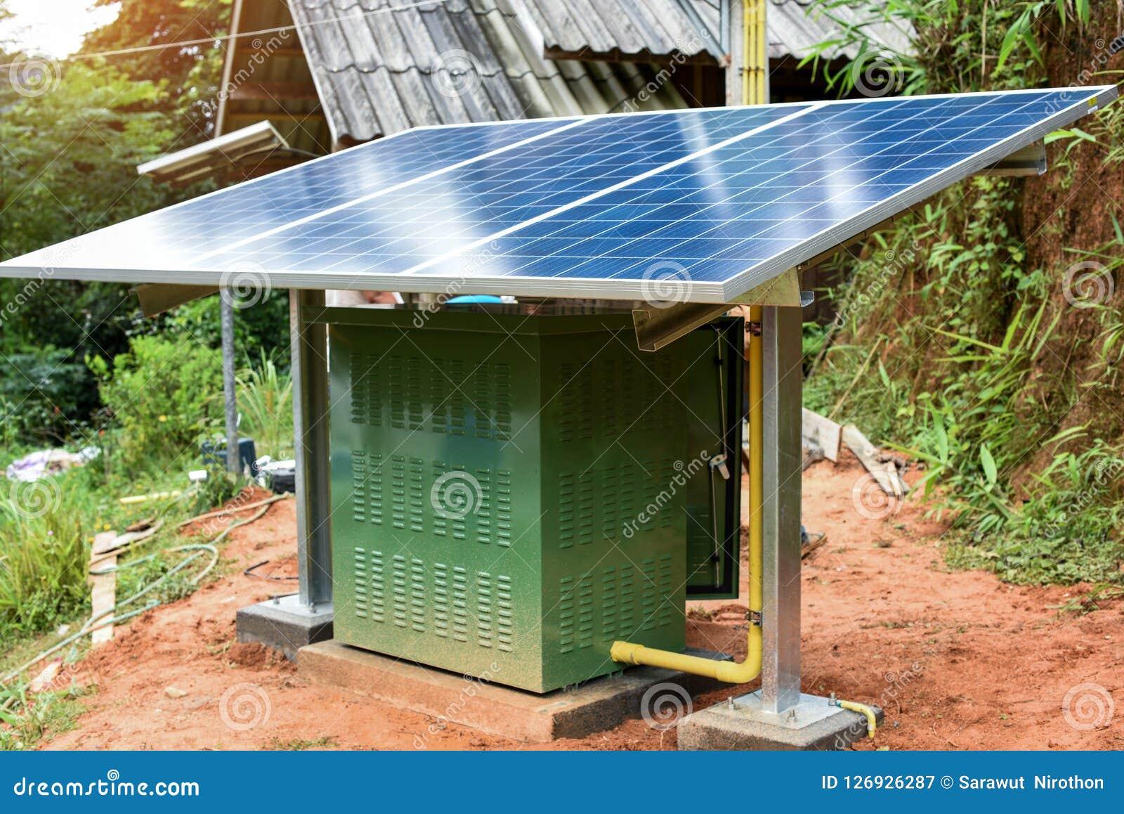 Installeer klein zonnecelsysteem