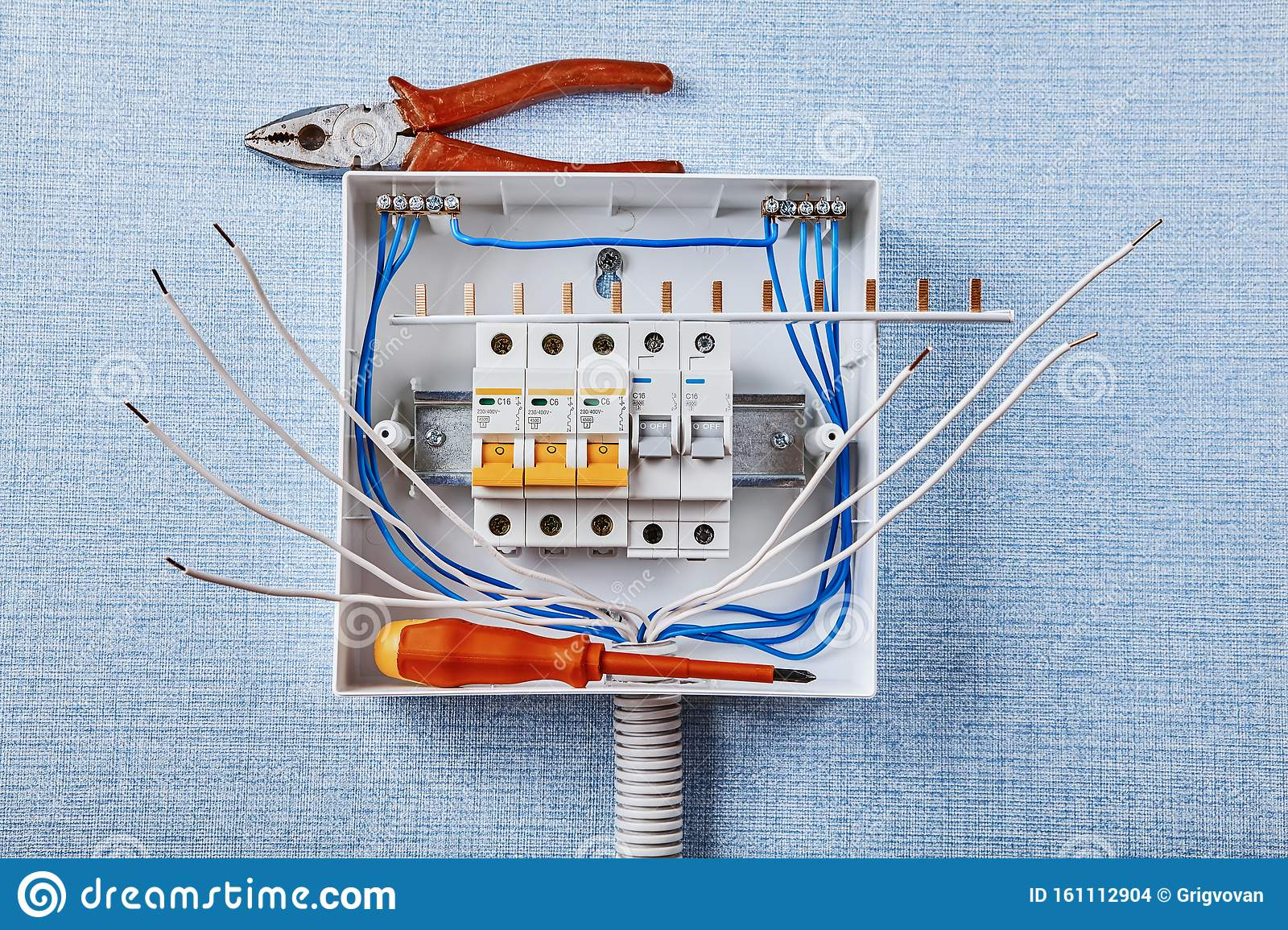 Installing A Home Electrical Panel Stock Photo Image Of Install Electrical 161112904