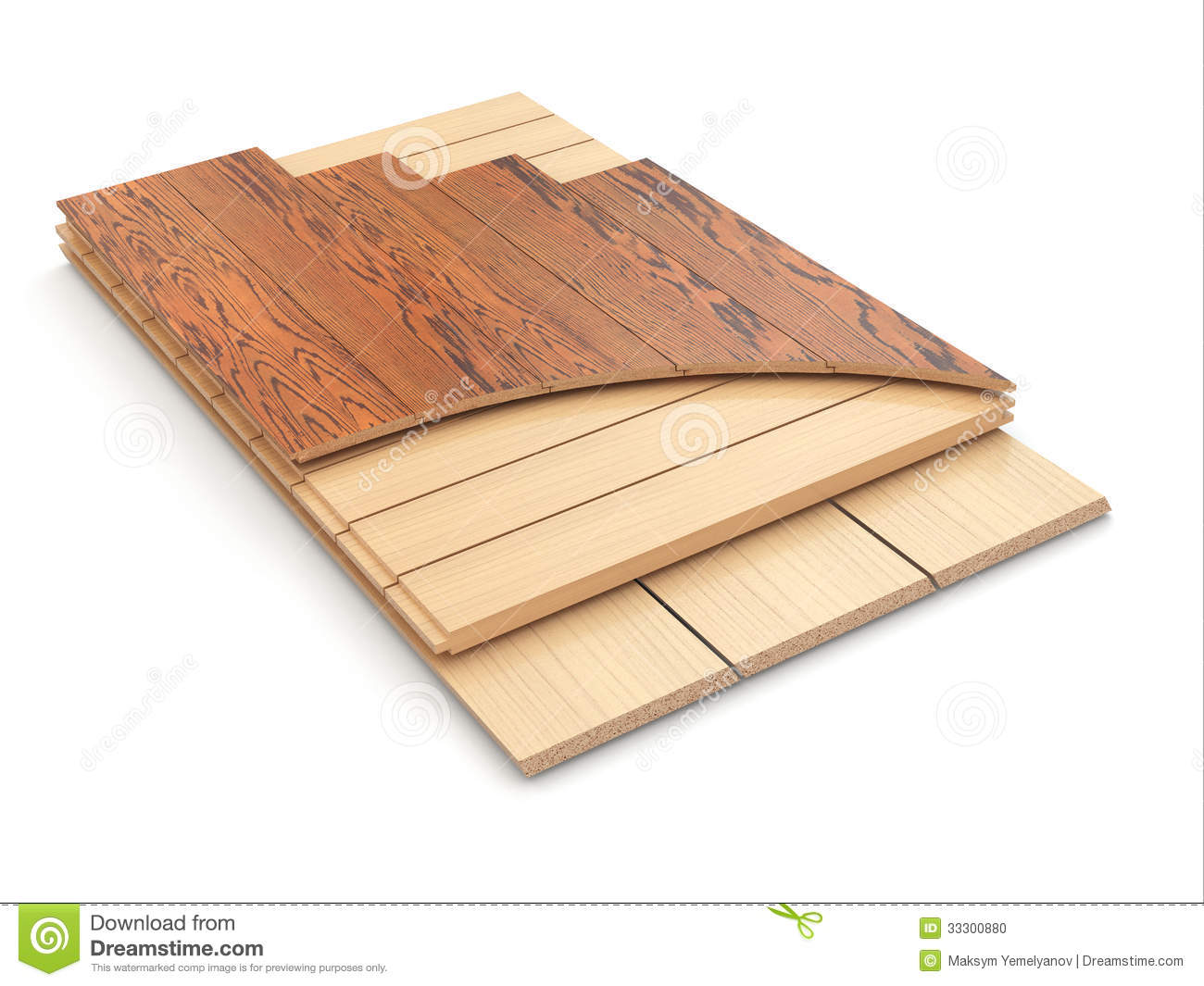 Installing laminate floor and wood samples stock photo for 3d laminate flooring