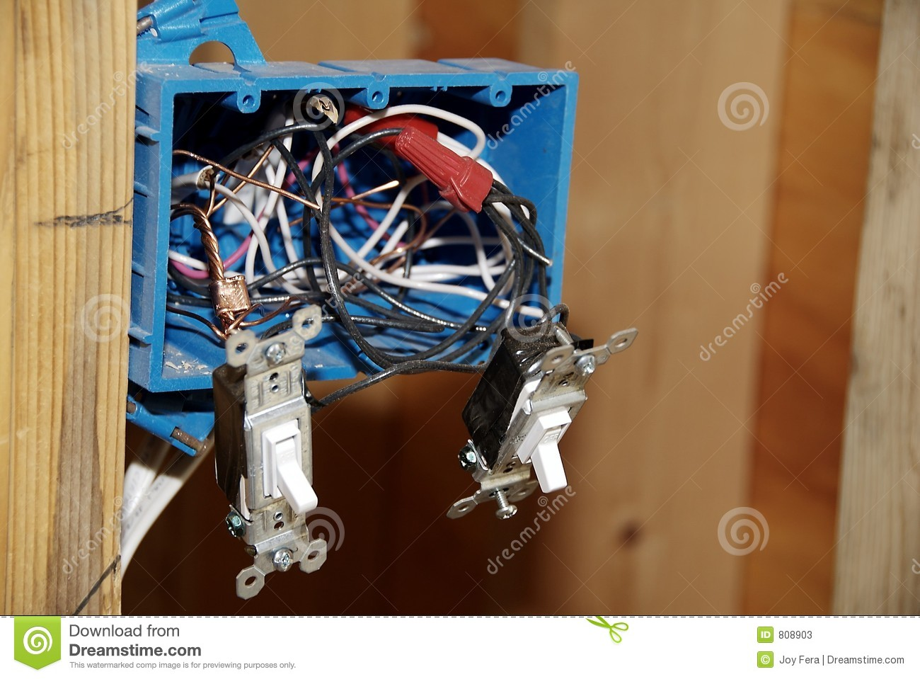 Installing Light Switch Wiring Stock Image Of Home New