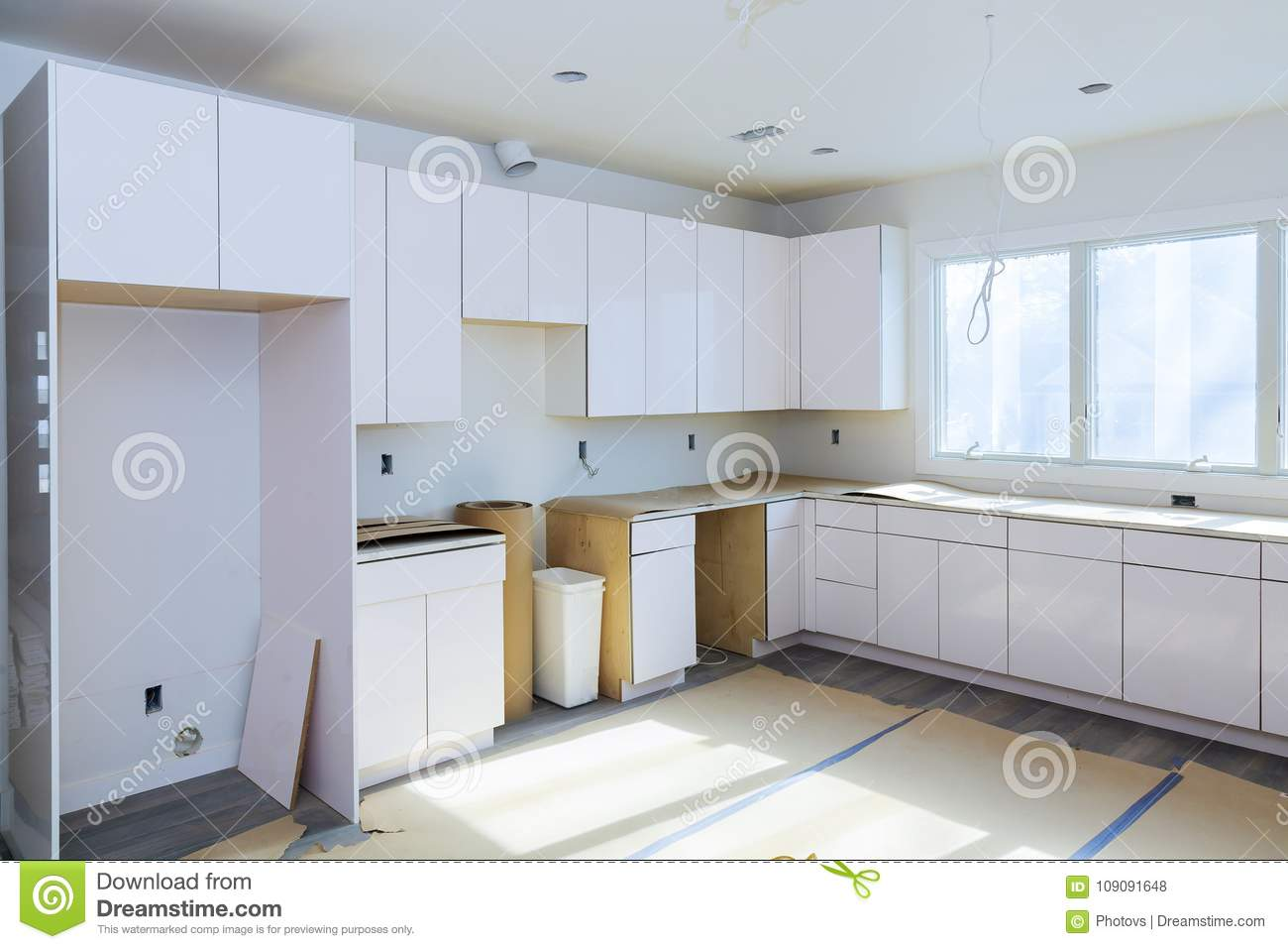 Installing New Induction Hob In Modern Kitchen Kitchen Installation Kitchen  Cabinet.