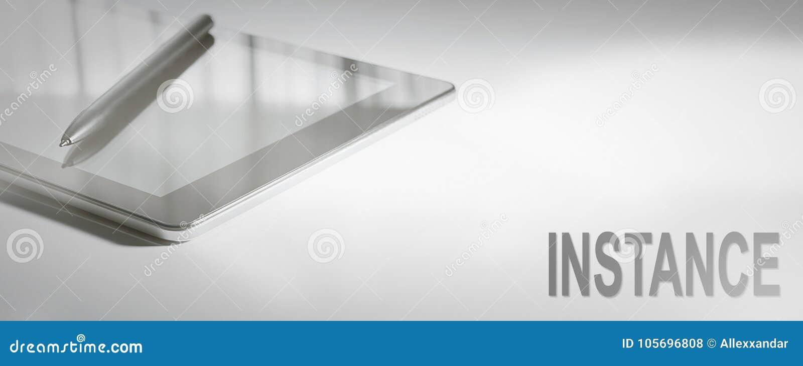INSTANCE Business Concept Digital Technology.