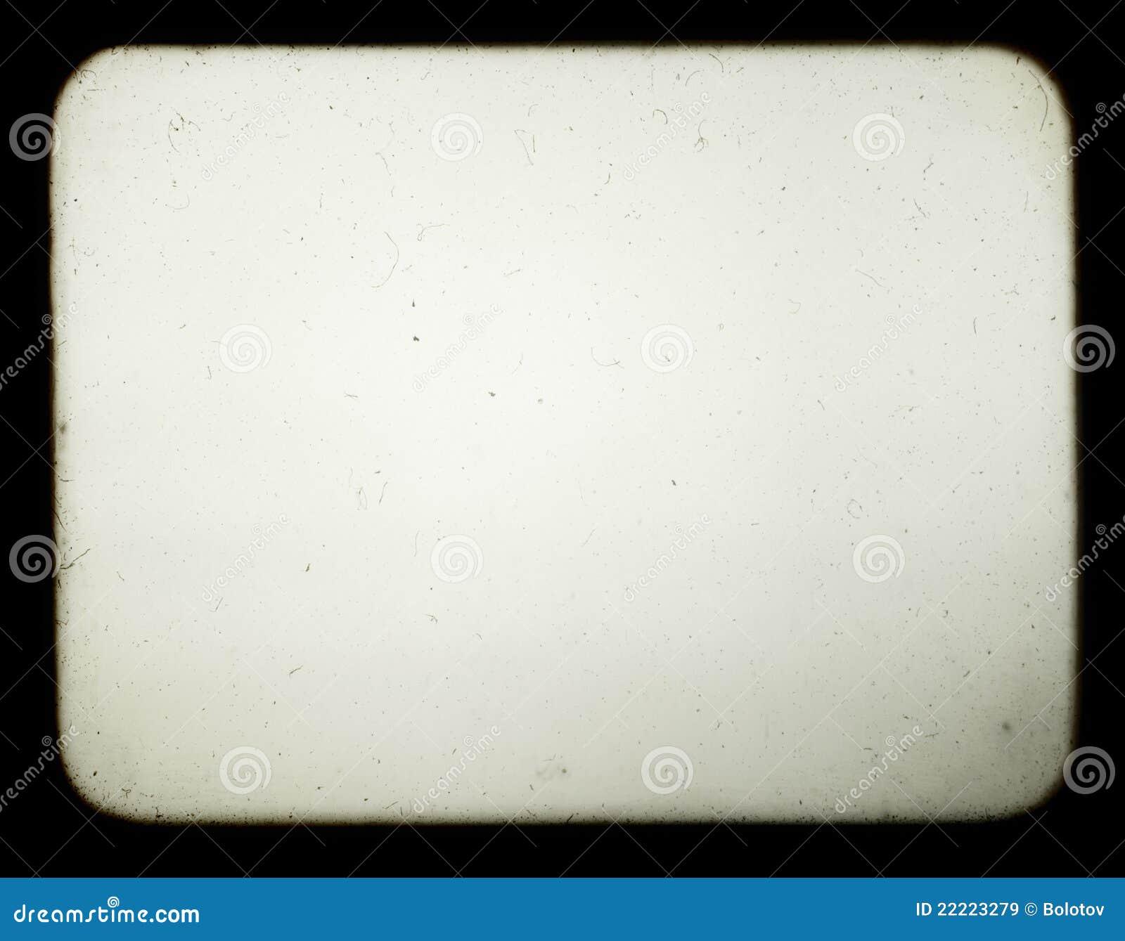 Instantâneo de uma tela em branco do projetor de corrediça velho